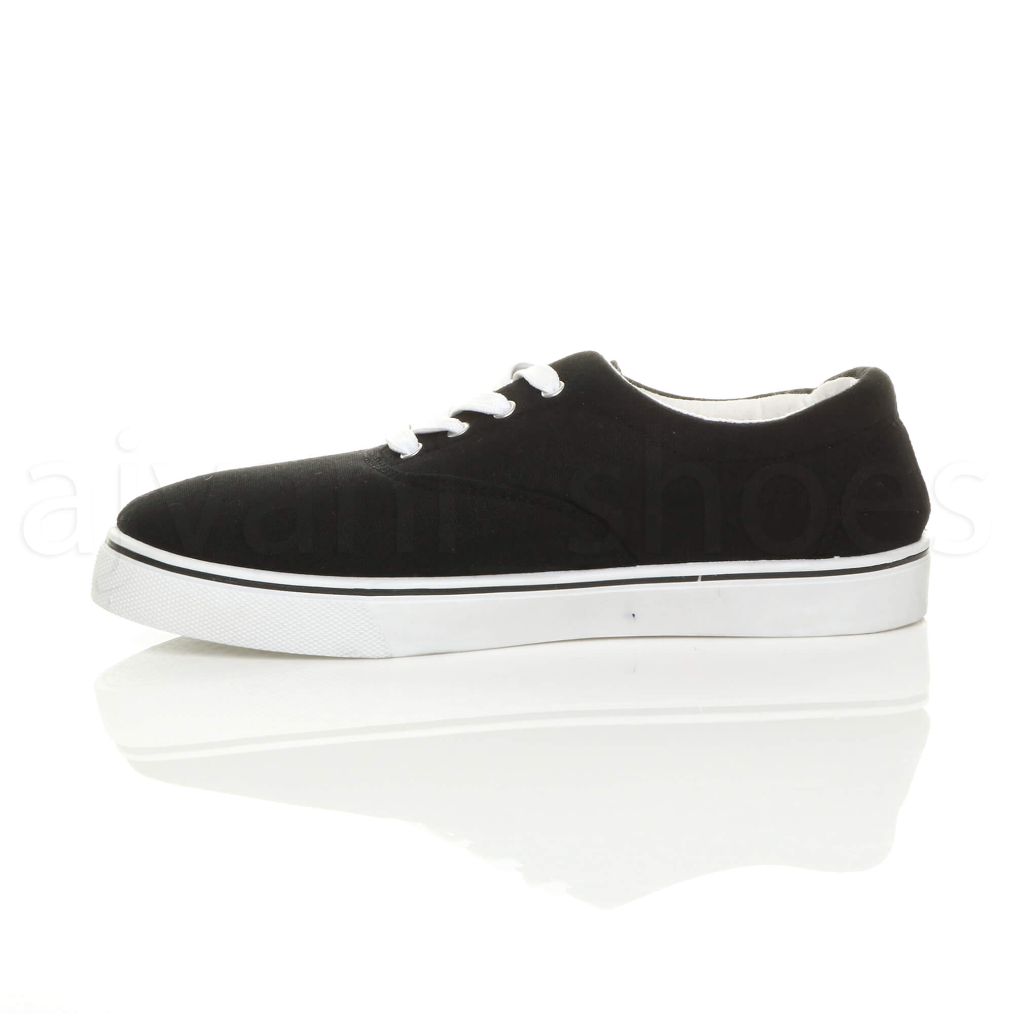 MENS-CANVAS-CASUAL-TRAINERS-PLIMSOLES-PLIMSOLLS-SHOES-LACE-UP-PUMPS-SIZE thumbnail 4