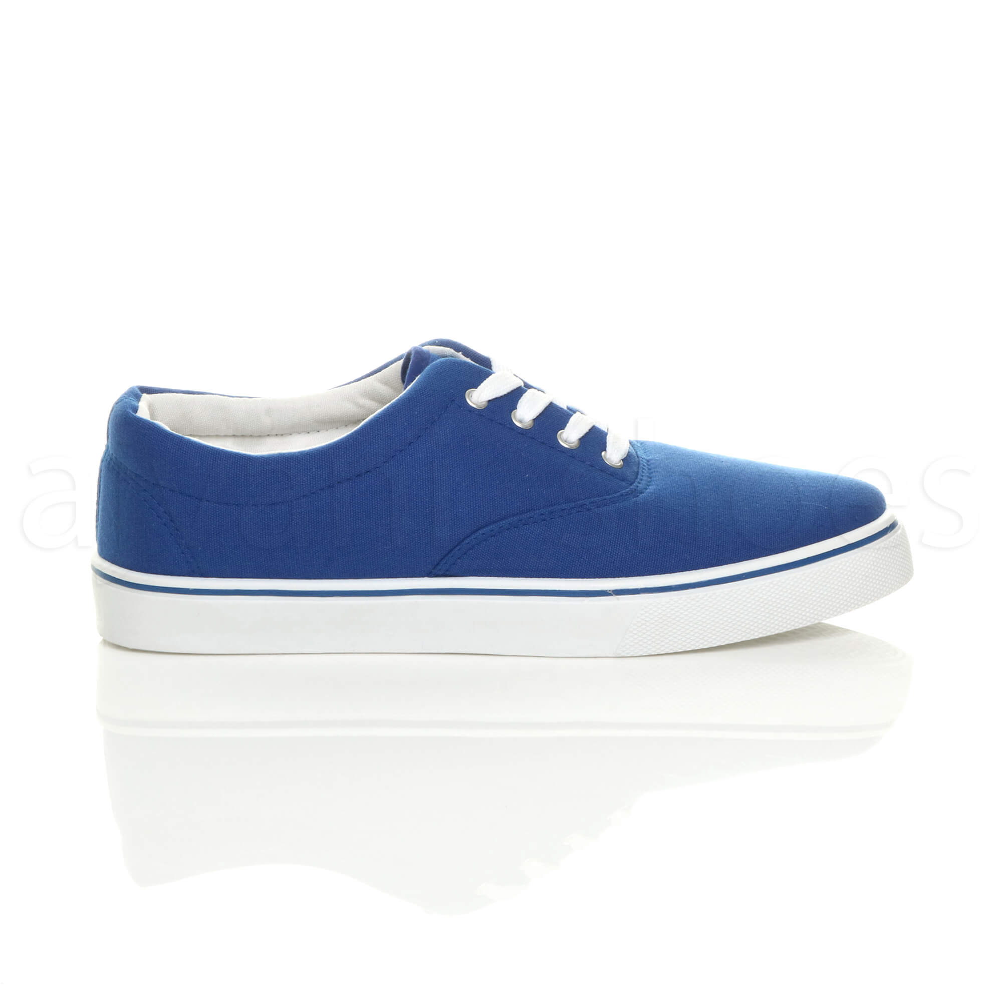 MENS-CANVAS-CASUAL-TRAINERS-PLIMSOLES-PLIMSOLLS-SHOES-LACE-UP-PUMPS-SIZE thumbnail 23