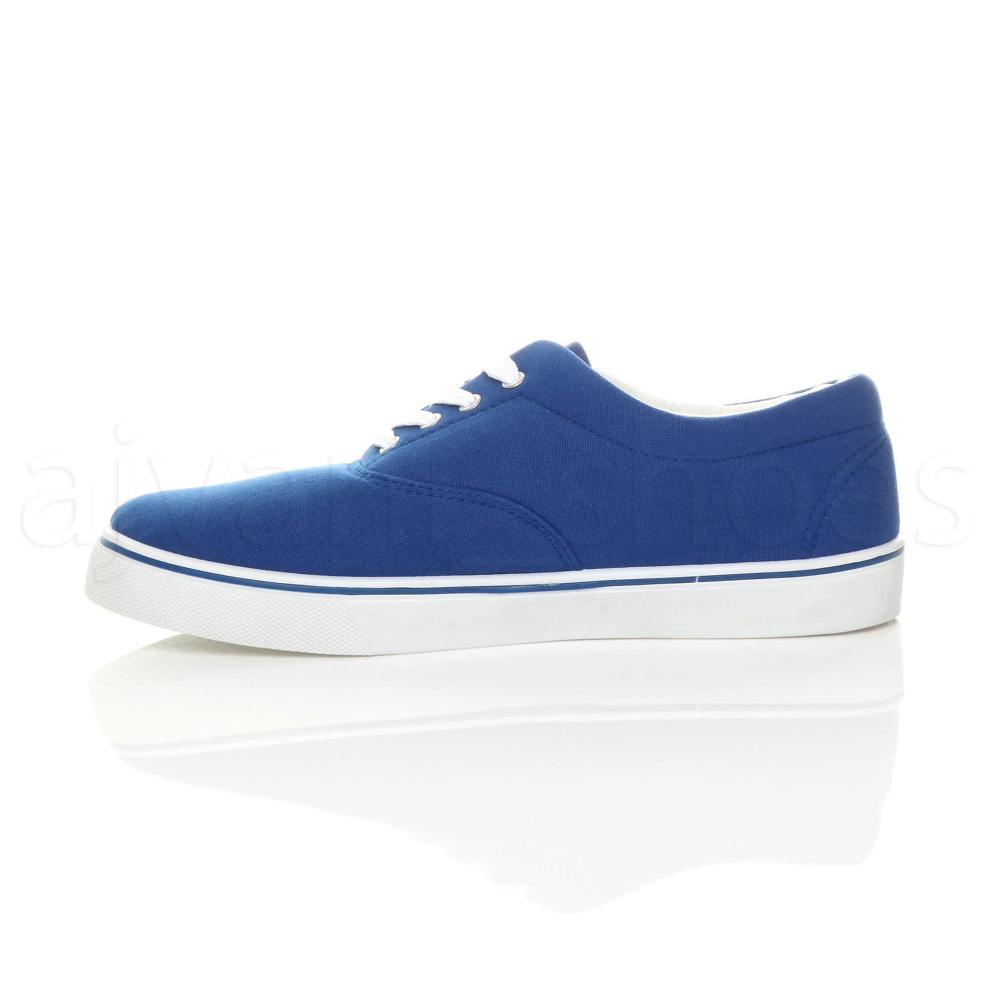 MENS-CANVAS-CASUAL-TRAINERS-PLIMSOLES-PLIMSOLLS-SHOES-LACE-UP-PUMPS-SIZE thumbnail 24