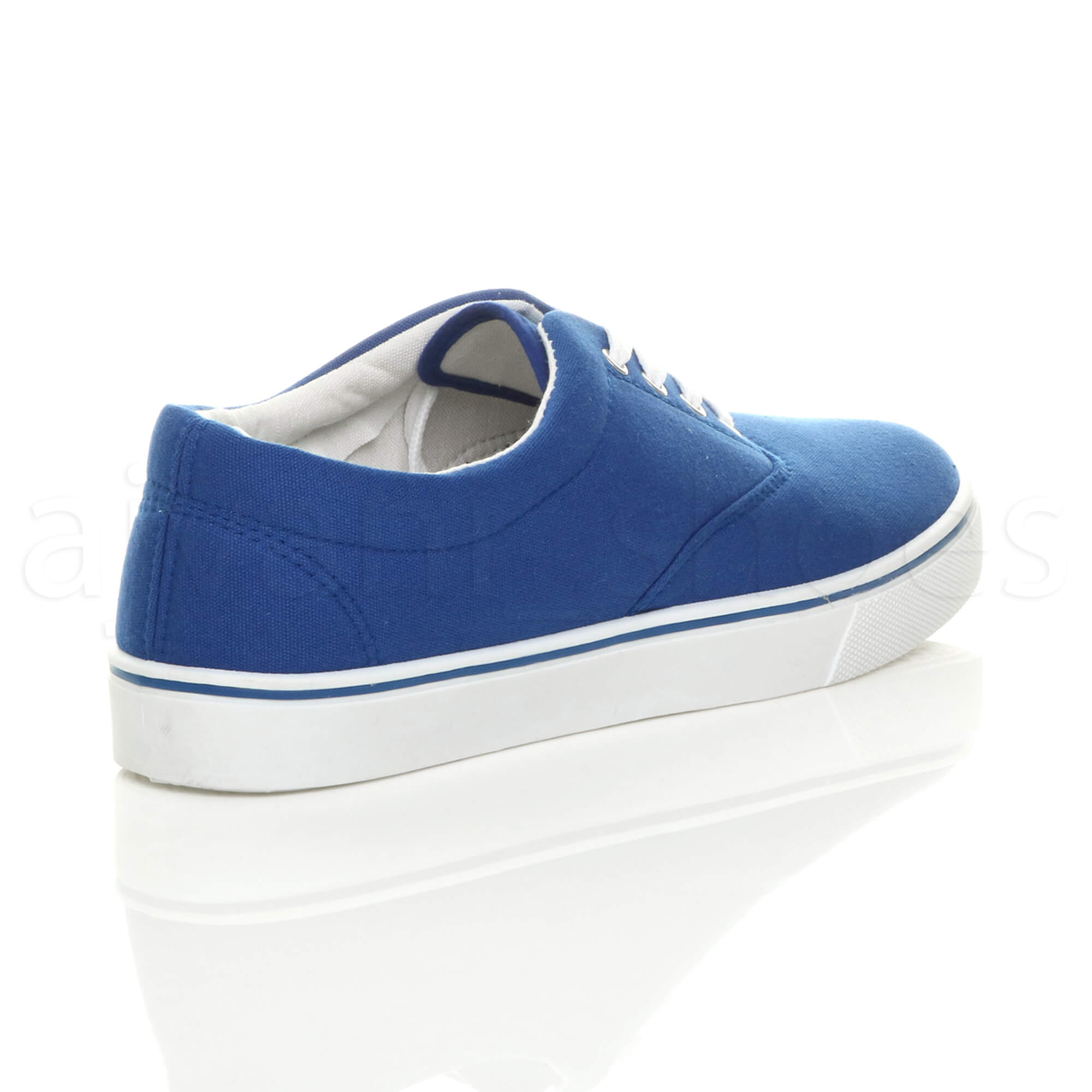 MENS-CANVAS-CASUAL-TRAINERS-PLIMSOLES-PLIMSOLLS-SHOES-LACE-UP-PUMPS-SIZE thumbnail 25