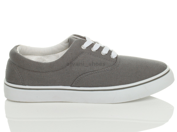 MENS-CANVAS-CASUAL-TRAINERS-PLIMSOLES-PLIMSOLLS-SHOES-LACE-UP-PUMPS-SIZE thumbnail 13