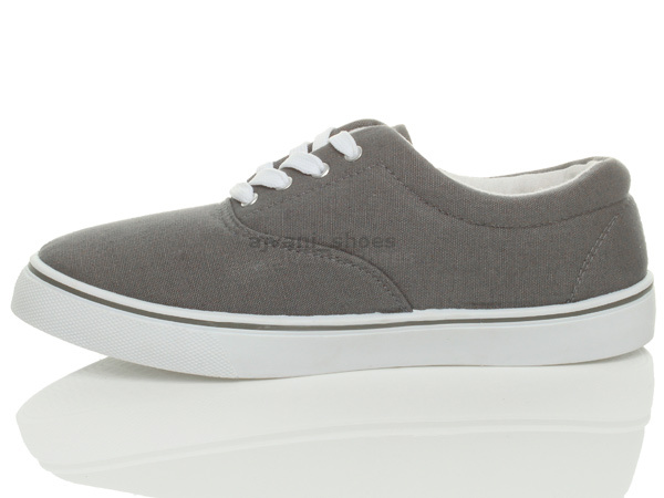MENS-CANVAS-CASUAL-TRAINERS-PLIMSOLES-PLIMSOLLS-SHOES-LACE-UP-PUMPS-SIZE thumbnail 14