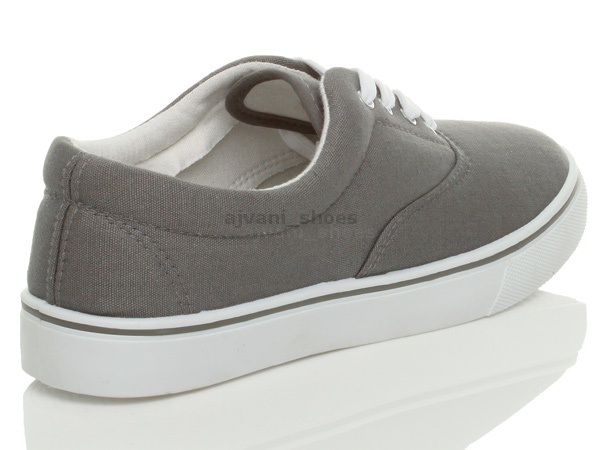 MENS-CANVAS-CASUAL-TRAINERS-PLIMSOLES-PLIMSOLLS-SHOES-LACE-UP-PUMPS-SIZE thumbnail 15