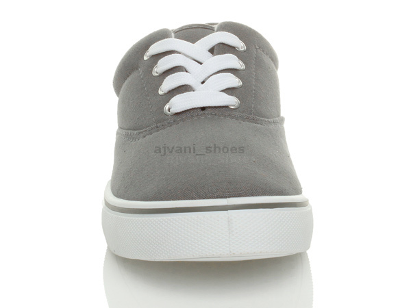 MENS-CANVAS-CASUAL-TRAINERS-PLIMSOLES-PLIMSOLLS-SHOES-LACE-UP-PUMPS-SIZE thumbnail 16