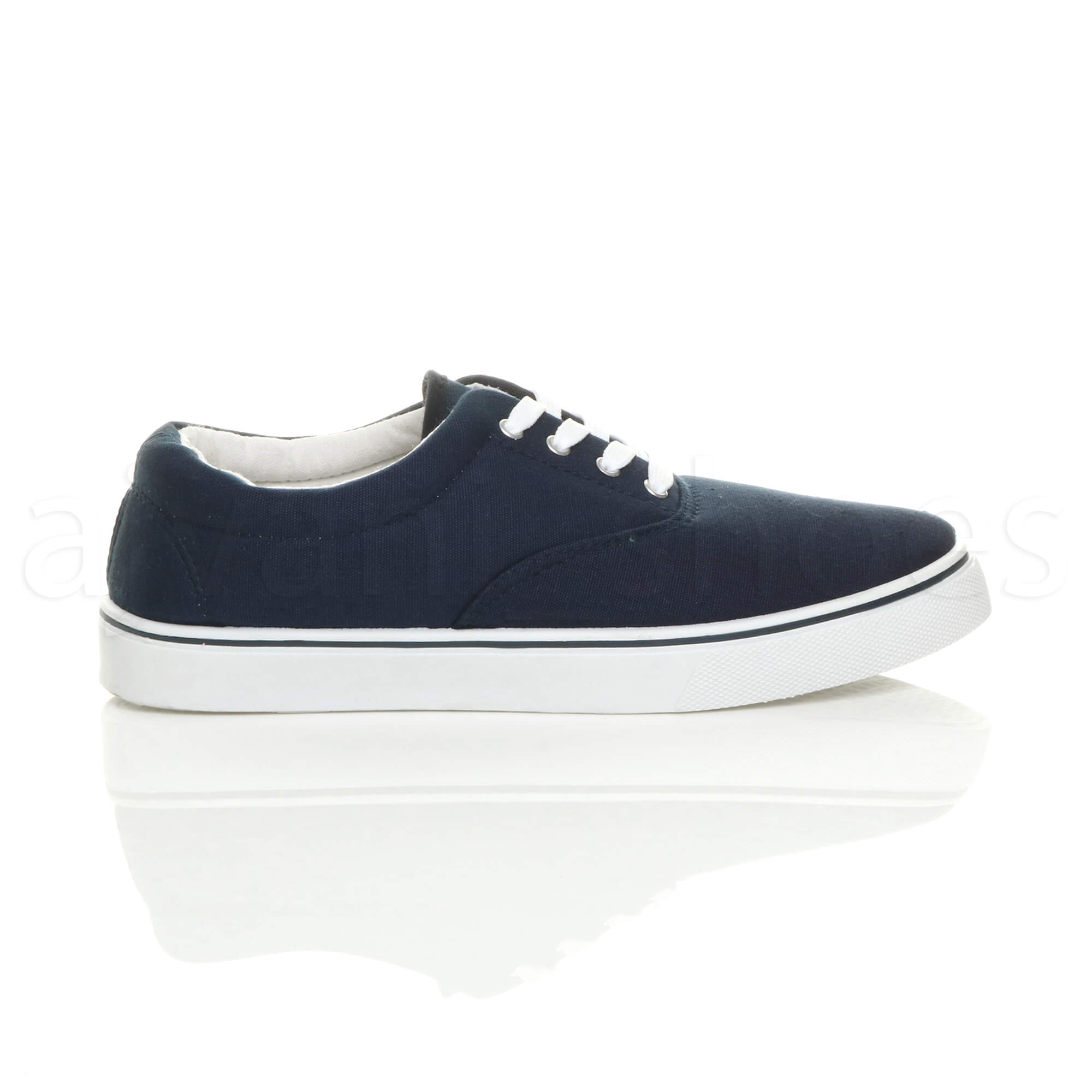MENS-CANVAS-CASUAL-TRAINERS-PLIMSOLES-PLIMSOLLS-SHOES-LACE-UP-PUMPS-SIZE thumbnail 8