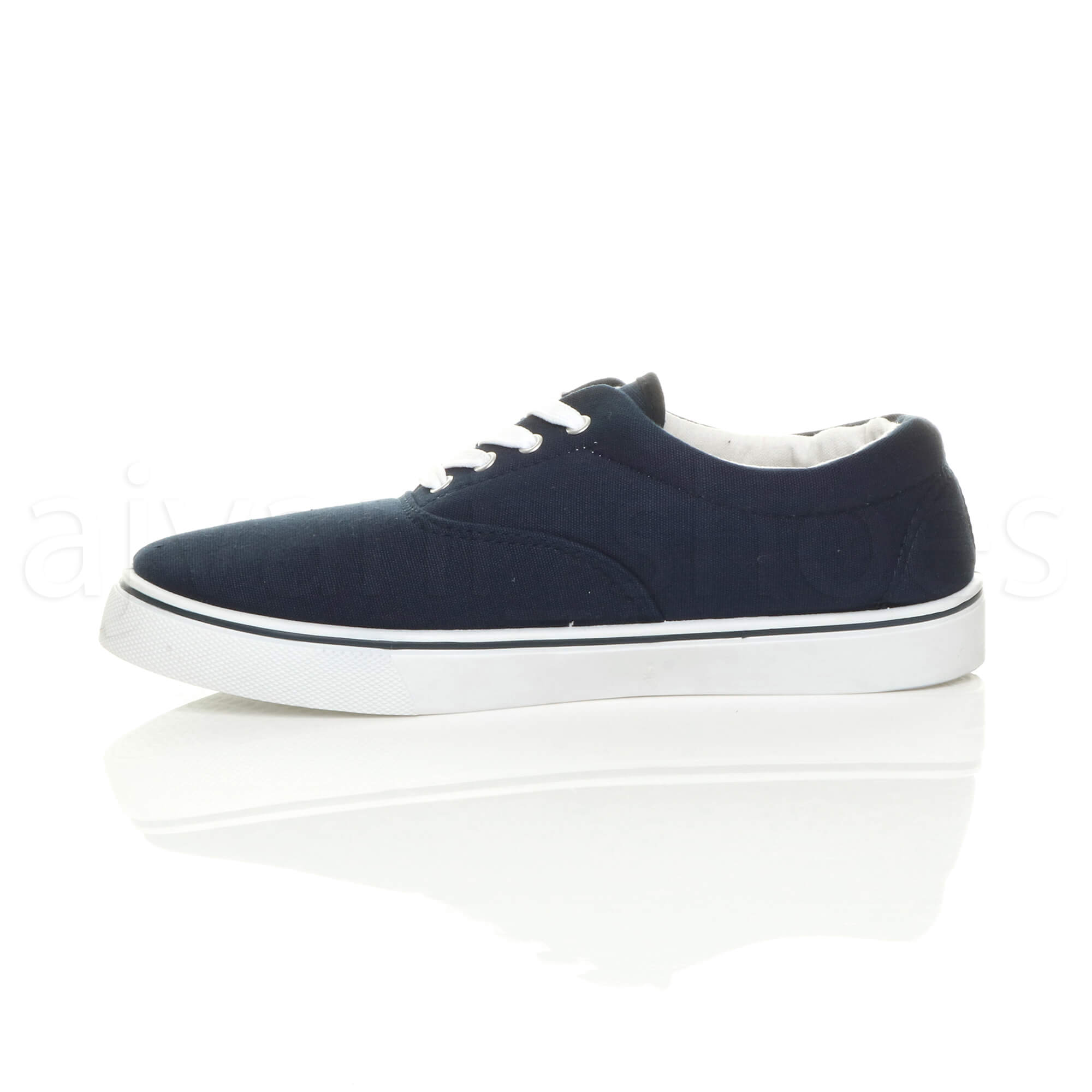 MENS-CANVAS-CASUAL-TRAINERS-PLIMSOLES-PLIMSOLLS-SHOES-LACE-UP-PUMPS-SIZE thumbnail 9