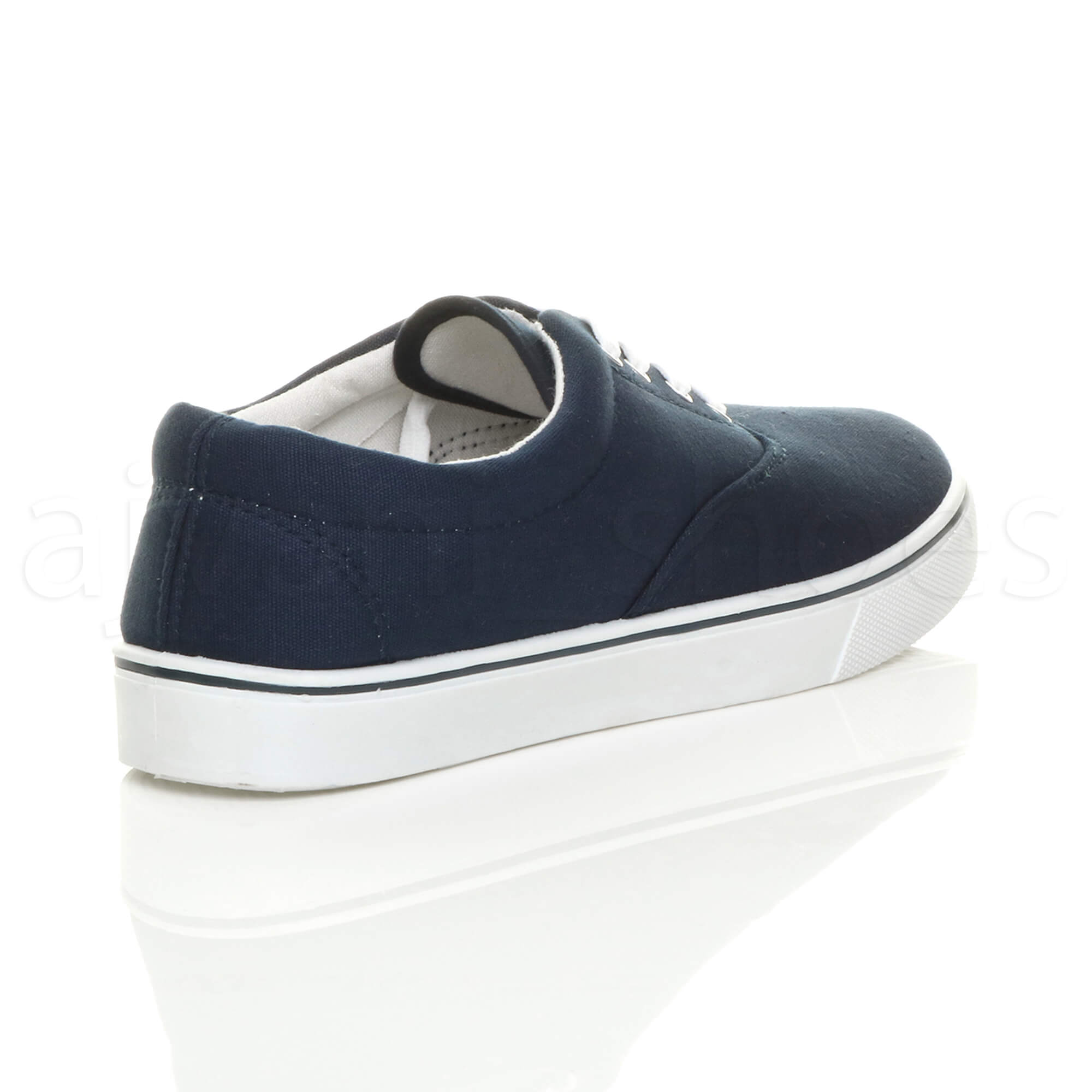MENS-CANVAS-CASUAL-TRAINERS-PLIMSOLES-PLIMSOLLS-SHOES-LACE-UP-PUMPS-SIZE thumbnail 10