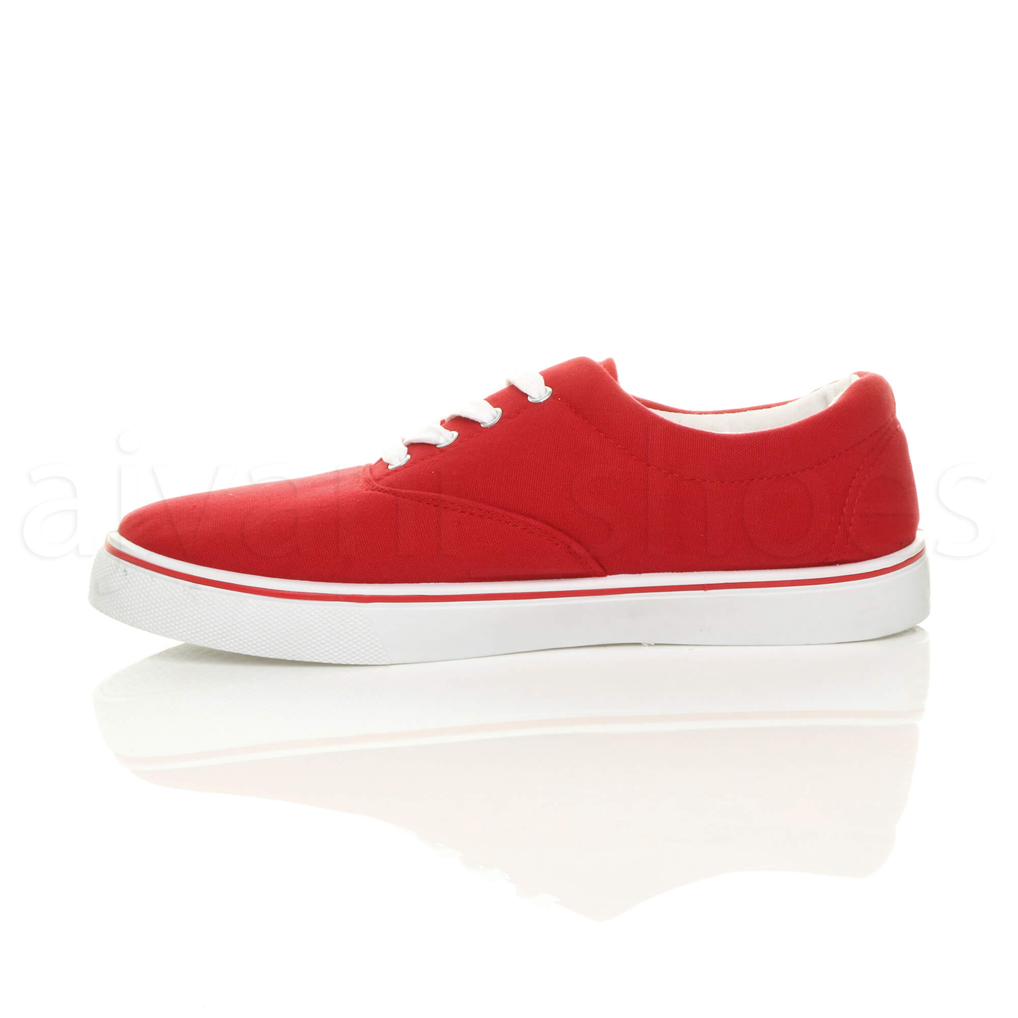 MENS-CANVAS-CASUAL-TRAINERS-PLIMSOLES-PLIMSOLLS-SHOES-LACE-UP-PUMPS-SIZE thumbnail 19