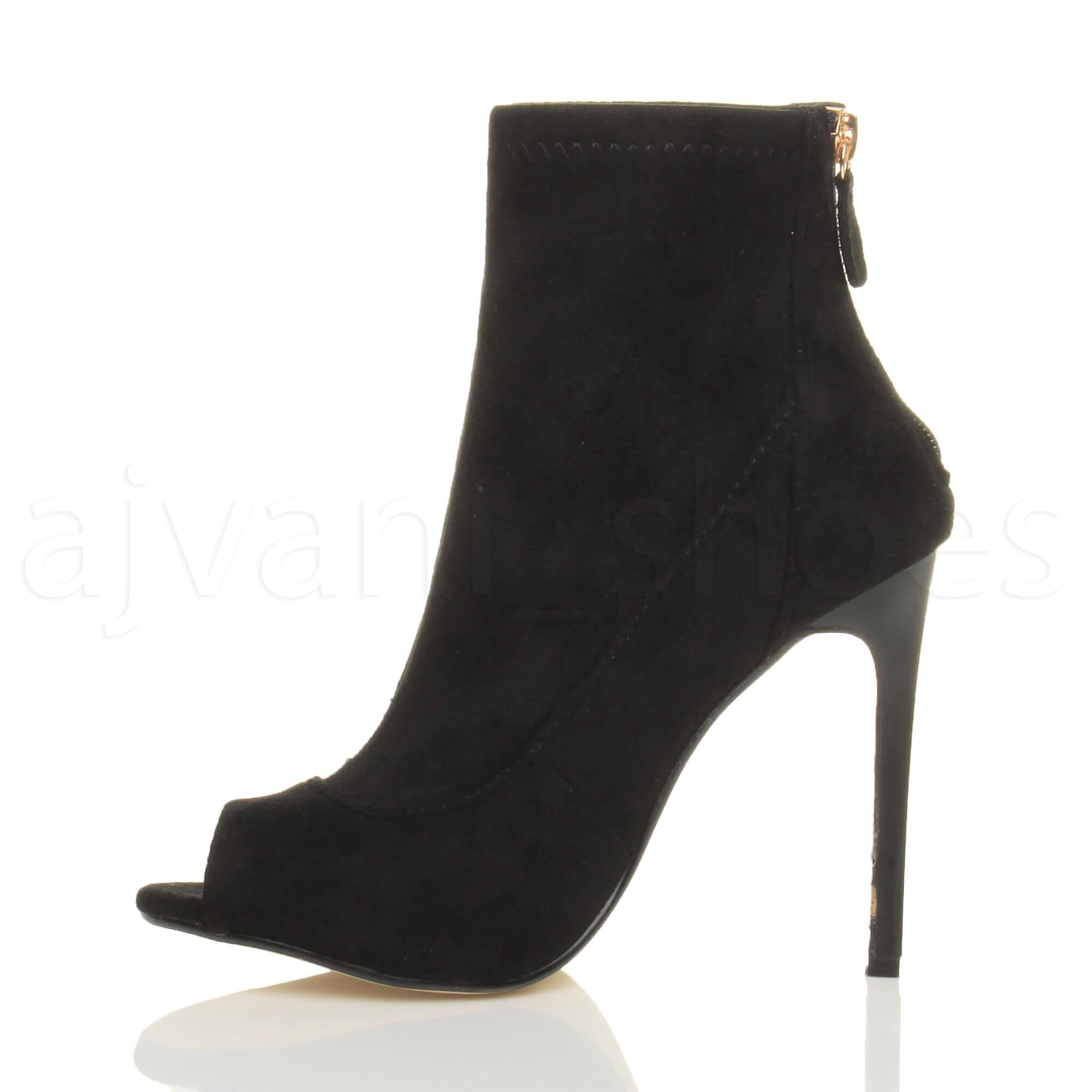 femmes haut talon aiguille bout ouvert branch bottines bottes sandale pointure ebay. Black Bedroom Furniture Sets. Home Design Ideas