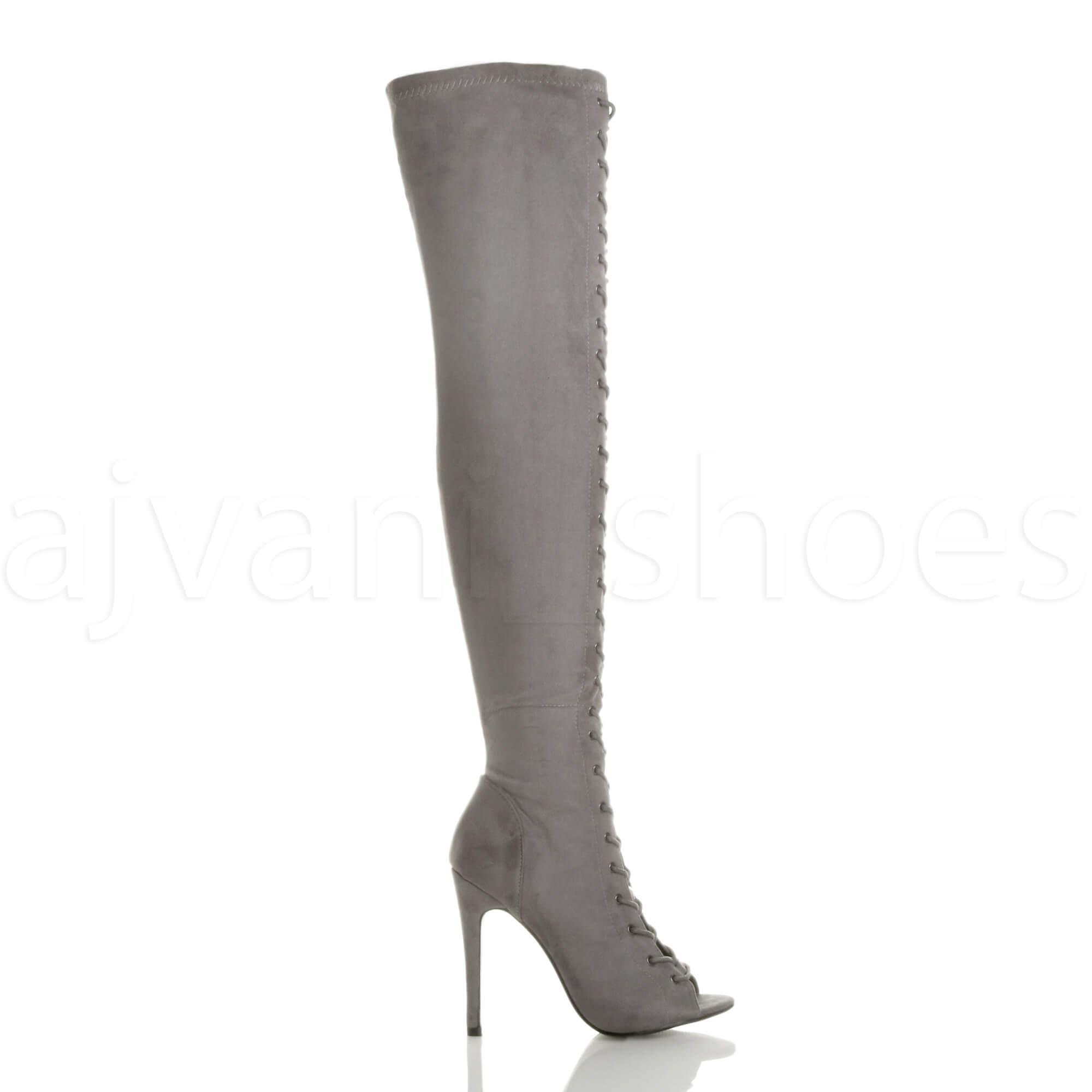 WOMENS-LADIES-HIGH-HEEL-STILETTO-LACE-UP-ZIP-CLUB-OVER-THE-KNEE-THIGH-BOOTS-SIZE