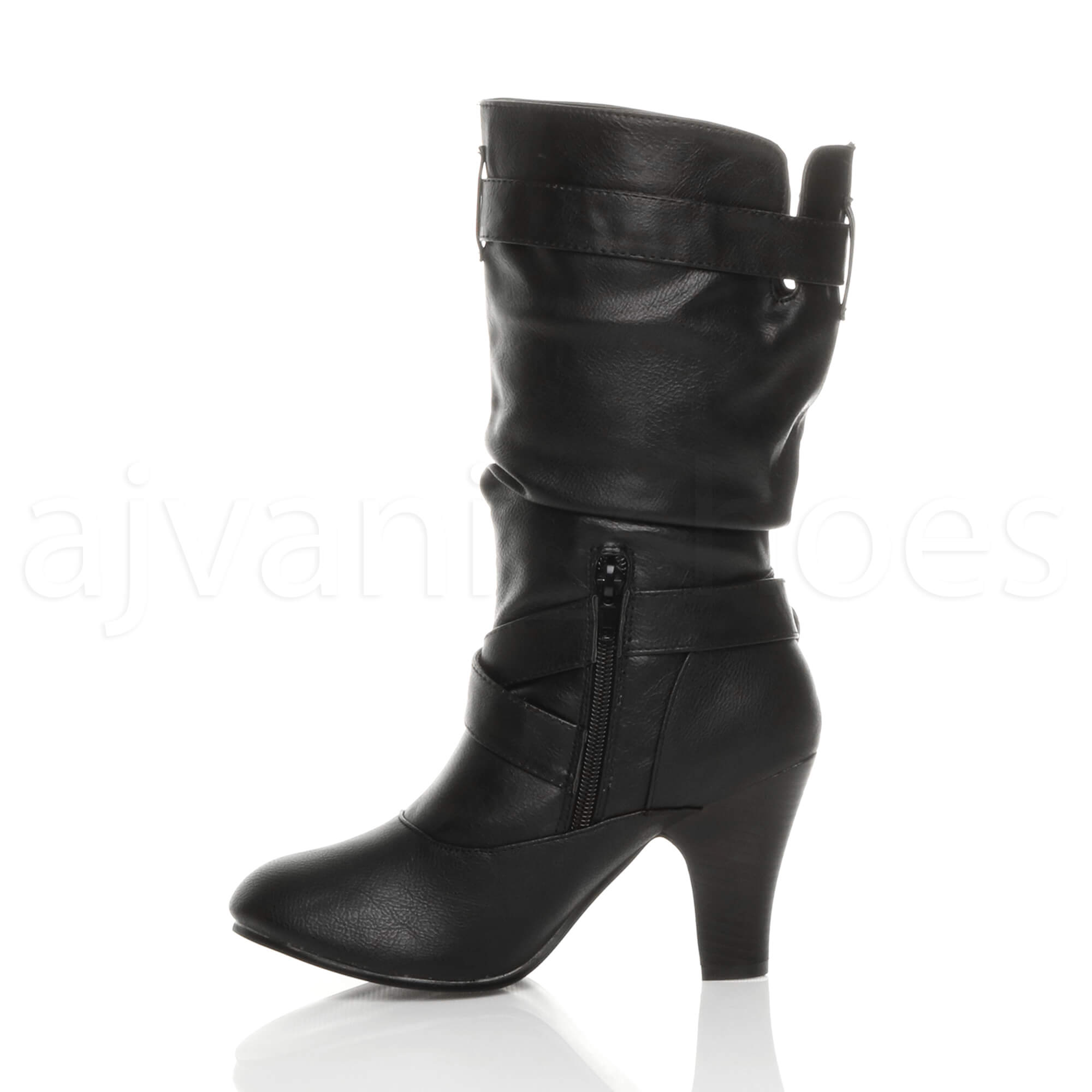 Ladies Black Heeled Shoes