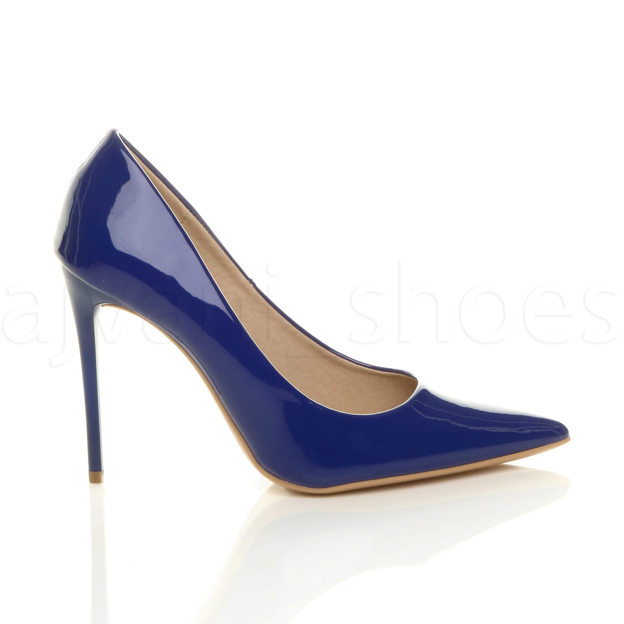 WOMENS-LADIES-HIGH-HEEL-POINTED-CONTRAST-COURT-SMART-PARTY-WORK-SHOES-PUMPS-SIZE thumbnail 51