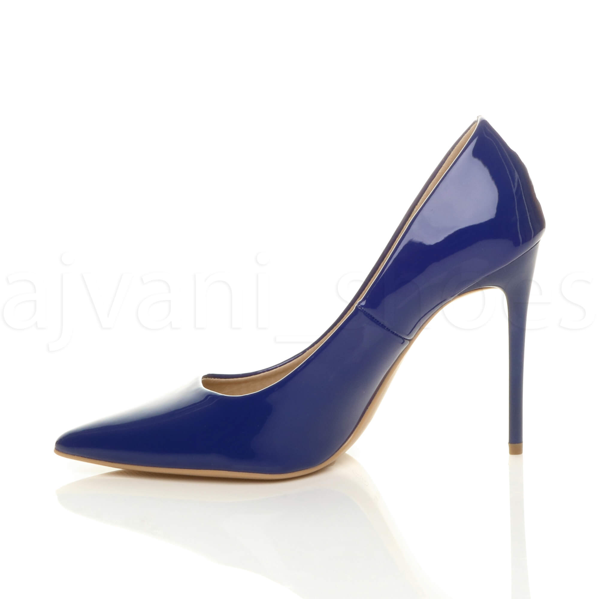 WOMENS-LADIES-HIGH-HEEL-POINTED-CONTRAST-COURT-SMART-PARTY-WORK-SHOES-PUMPS-SIZE thumbnail 52