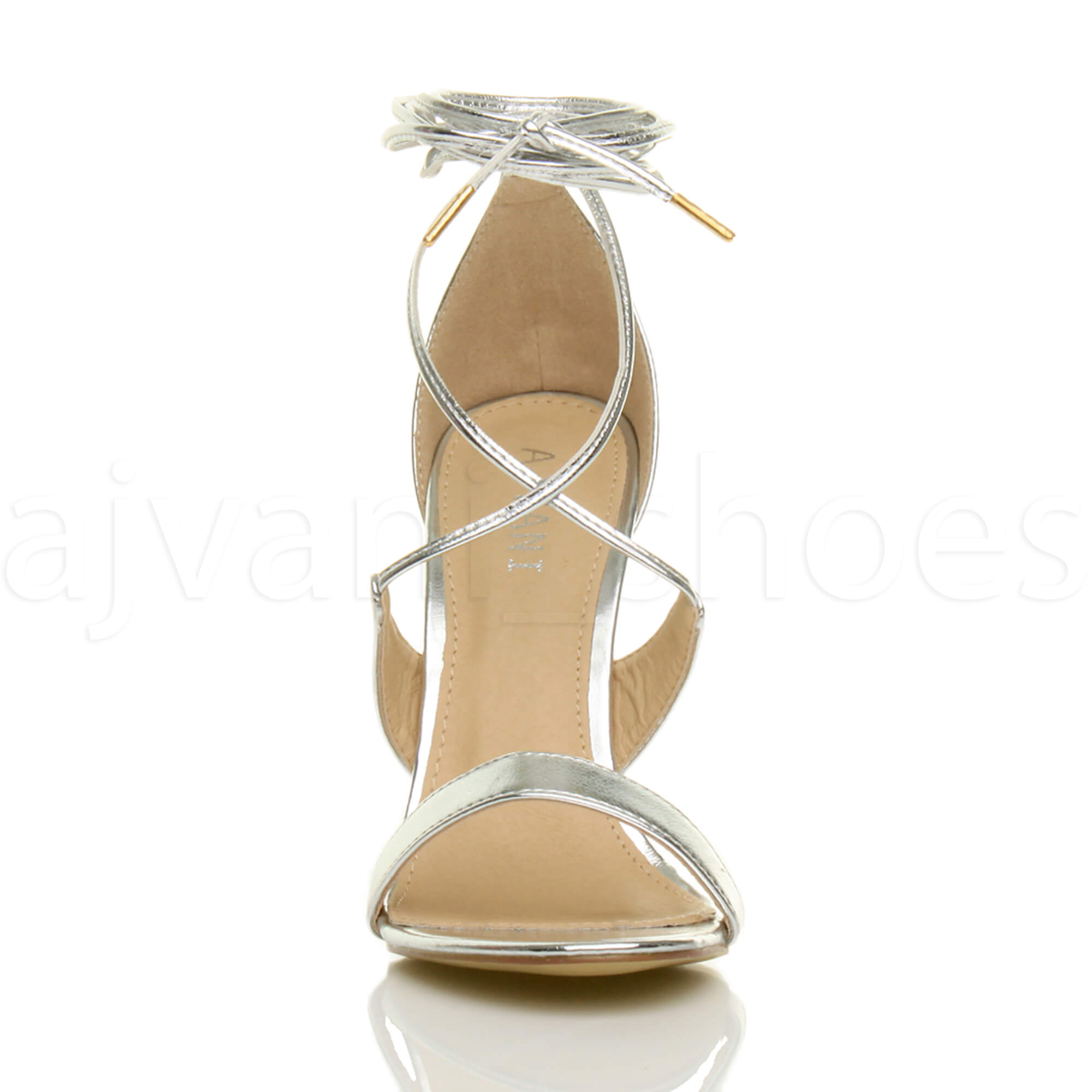 WOMENS-LADIES-HIGH-HEEL-BARELY-THERE-STRAPPY-LACE-TIE-UP-SANDALS-SHOES-SIZE thumbnail 49