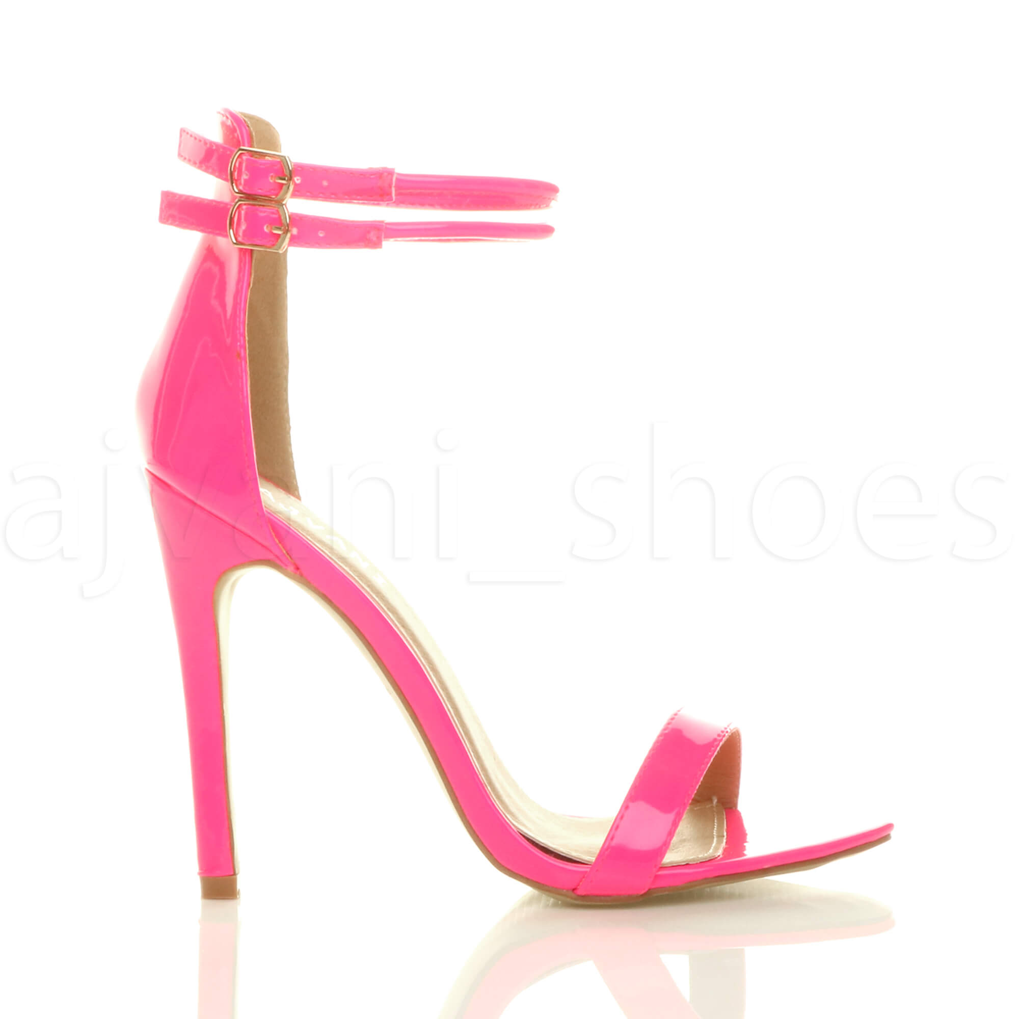 WOMENS-LADIES-BARELY-THERE-HIGH-HEEL-ANKLE-BUCKLE-STRAPPY-PARTY-PROM-SANDALS