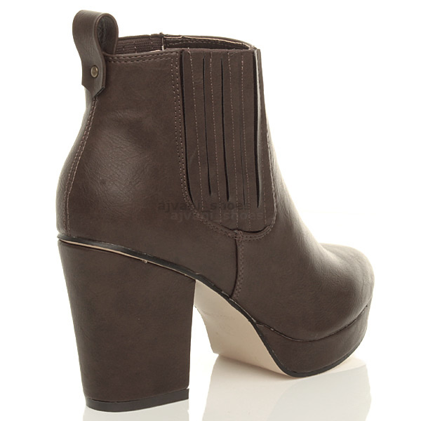 WOMENS-LADIES-HIGH-HEEL-BLOCK-PLATFORM-ANKLE-LOW-CHELSEA-BOOTS-BOOTIES-SIZE thumbnail 15