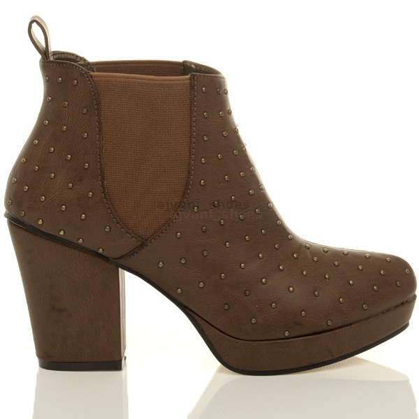 WOMENS-LADIES-HIGH-HEEL-BLOCK-PLATFORM-ANKLE-LOW-CHELSEA-BOOTS-BOOTIES-SIZE thumbnail 23