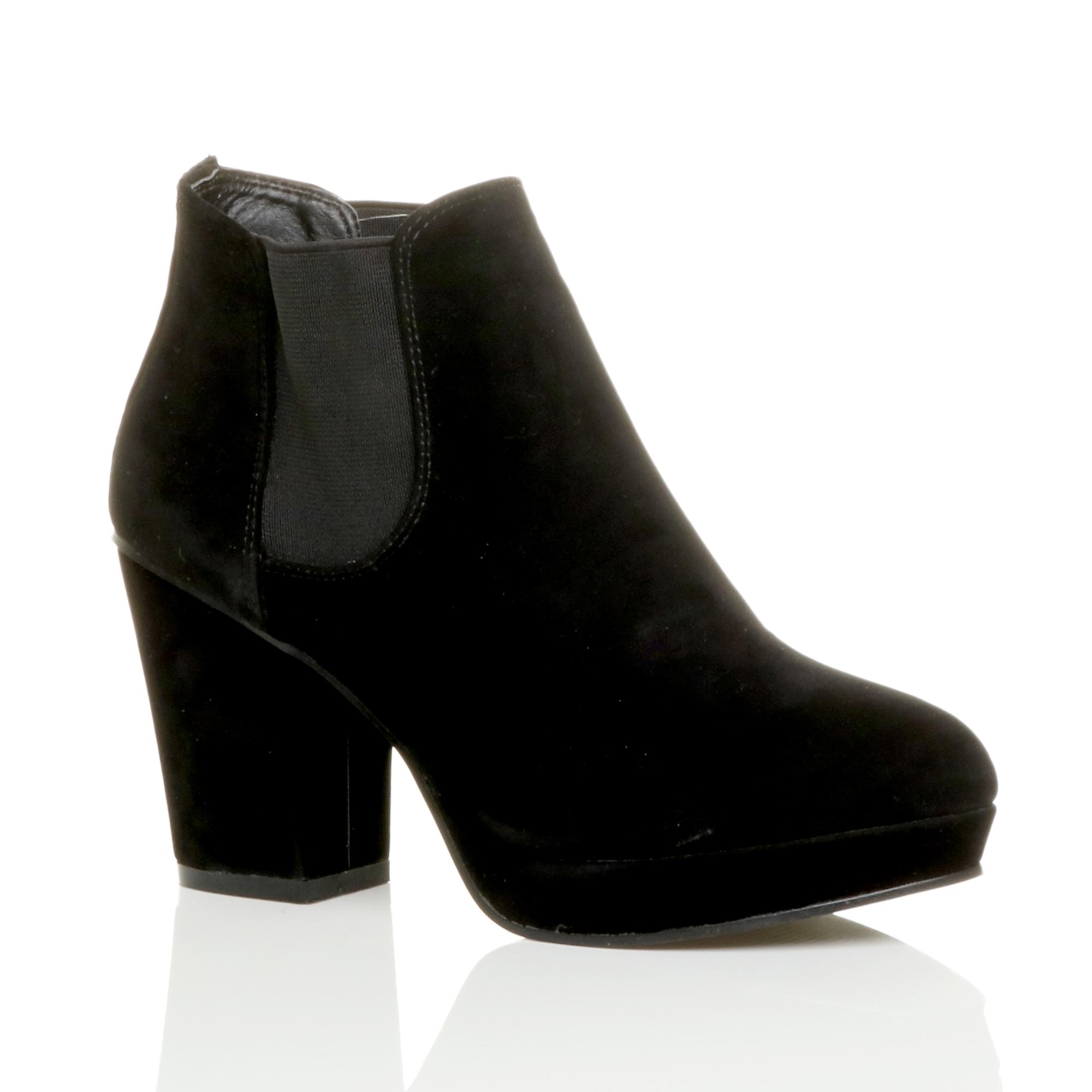 Block Heel Shoe Boots Uk