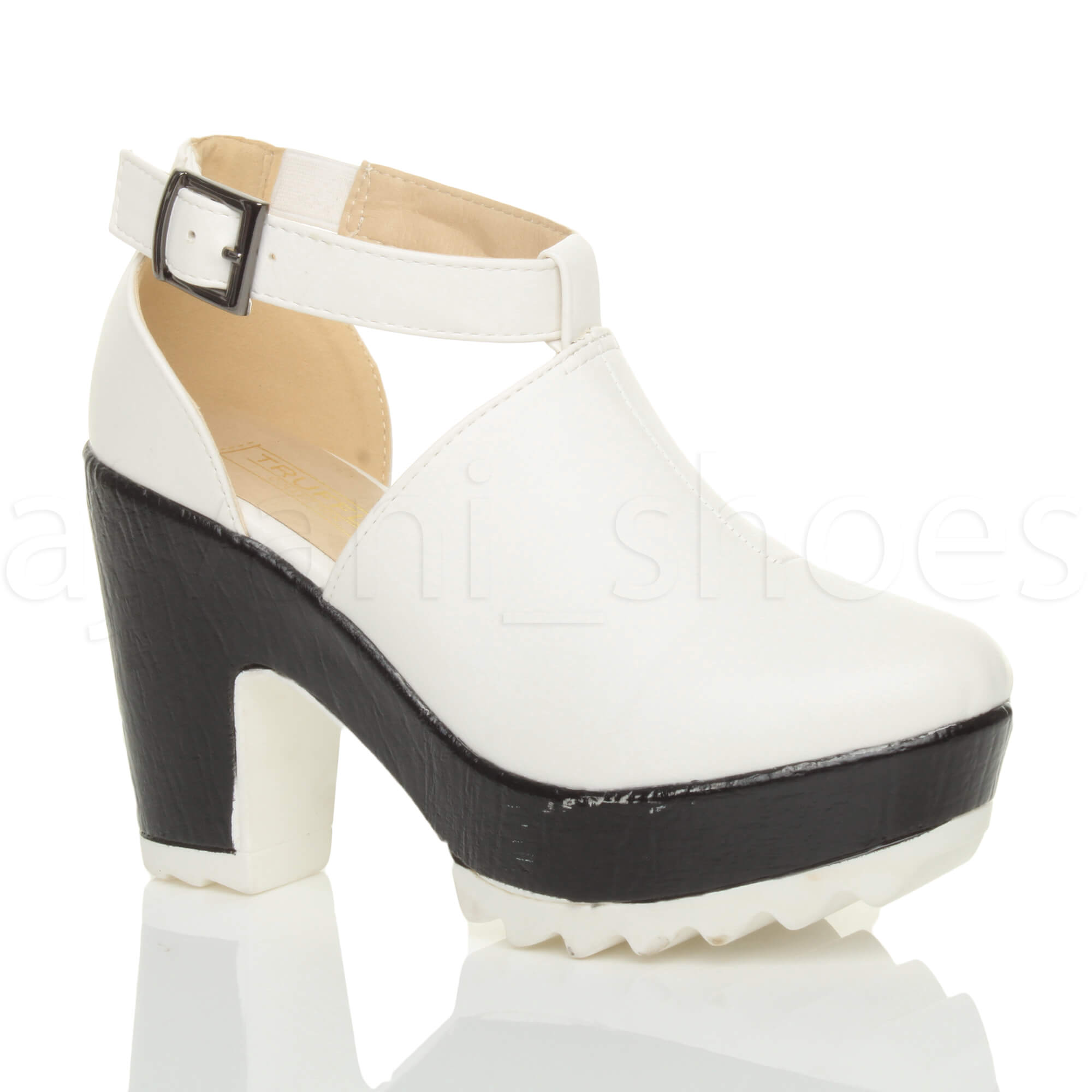 cf6d19d9bfea Image is loading WOMENS-LADIES-CHUNKY-CLEATED-CUT-OUT-PLATFORM-CONTRAST-
