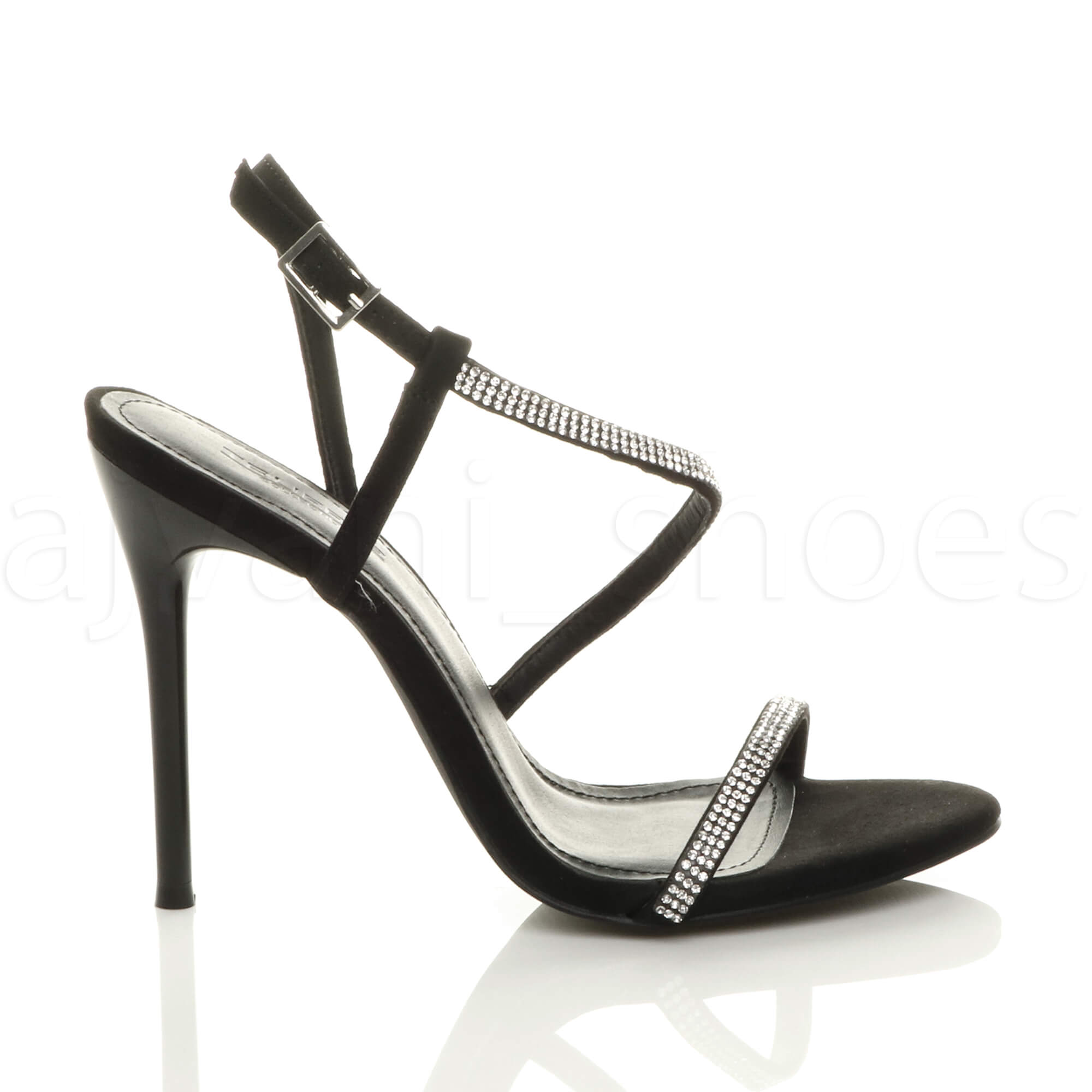 WOMENS-LADIES-HIGH-HEEL-DIAMANTE-BARELY-THERE-STRAPPY-EVENING-SANDALS-SIZE thumbnail 3
