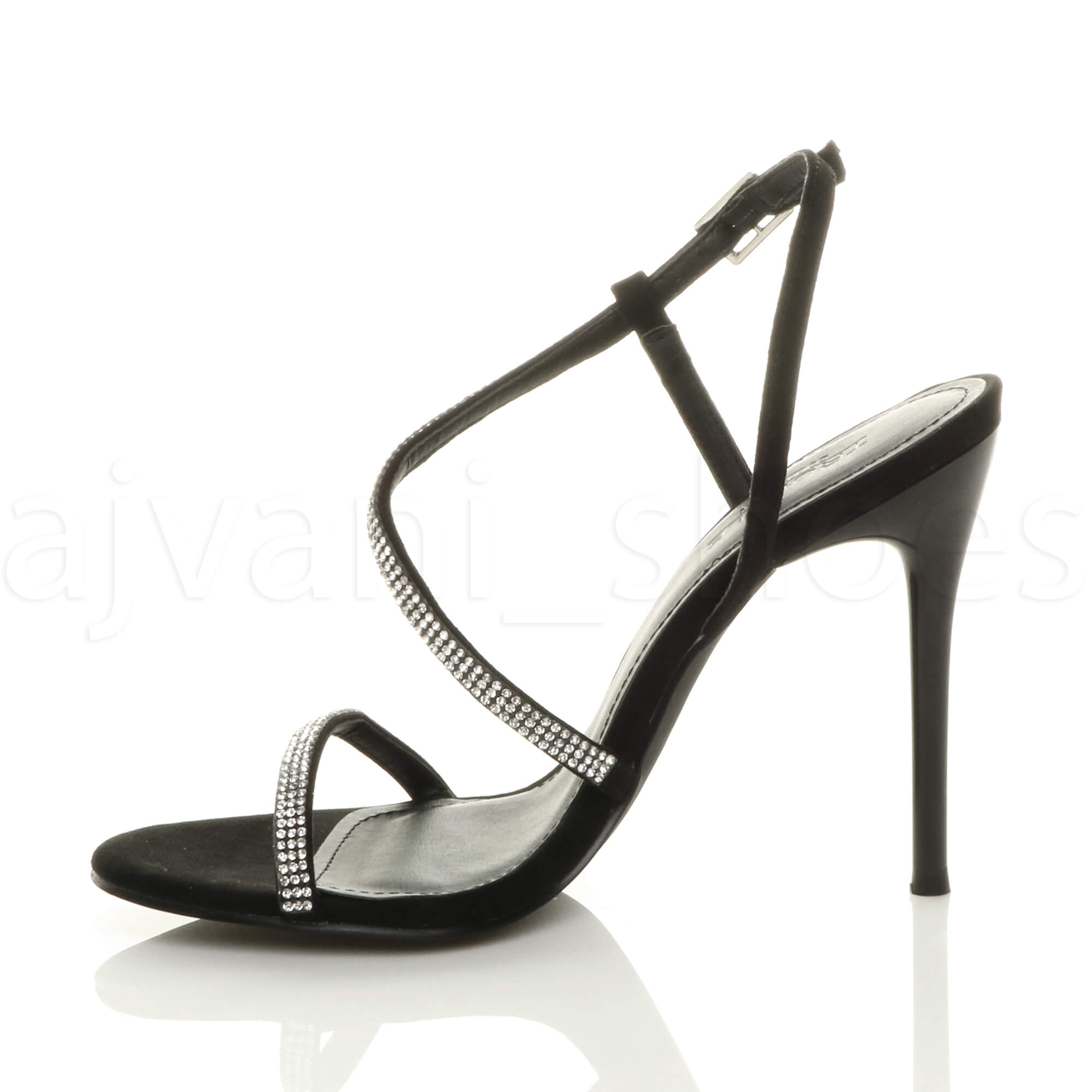 WOMENS-LADIES-HIGH-HEEL-DIAMANTE-BARELY-THERE-STRAPPY-EVENING-SANDALS-SIZE thumbnail 4