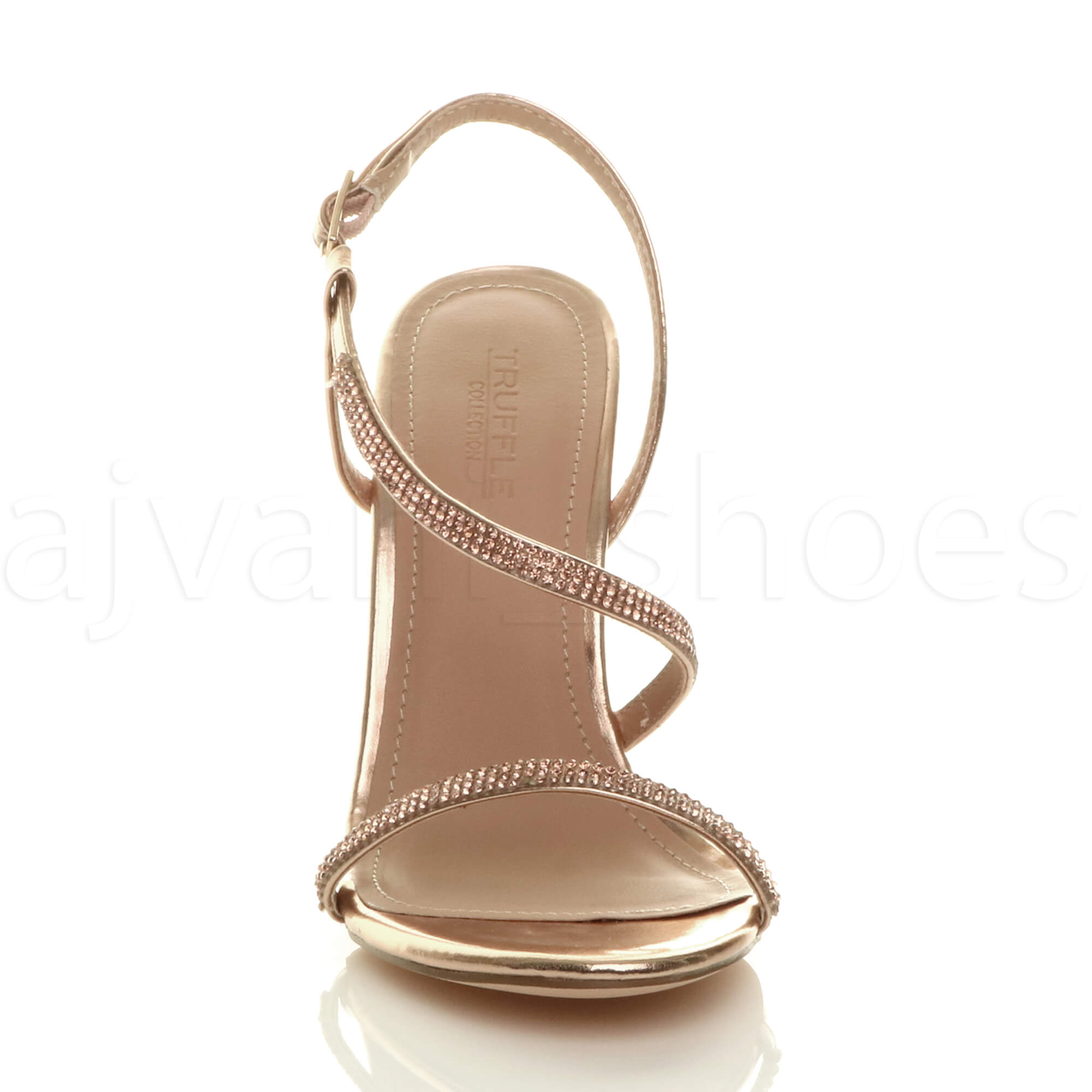 WOMENS-LADIES-HIGH-HEEL-DIAMANTE-BARELY-THERE-STRAPPY-EVENING-SANDALS-SIZE thumbnail 15
