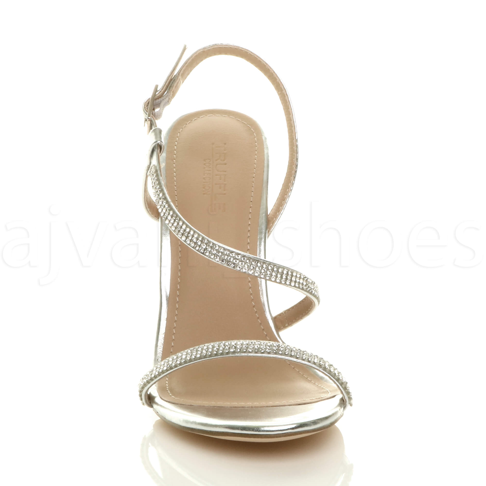 WOMENS-LADIES-HIGH-HEEL-DIAMANTE-BARELY-THERE-STRAPPY-EVENING-SANDALS-SIZE thumbnail 23