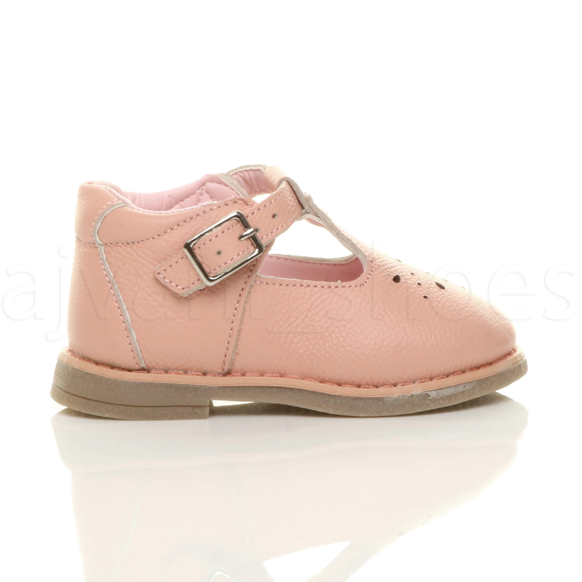 GIRLS-CHILDRENS-INFANT-TODDLER-LOW-HEEL-LEATHER-T-BAR-FLEXIBLE-PARTY-SHOES-SIZE