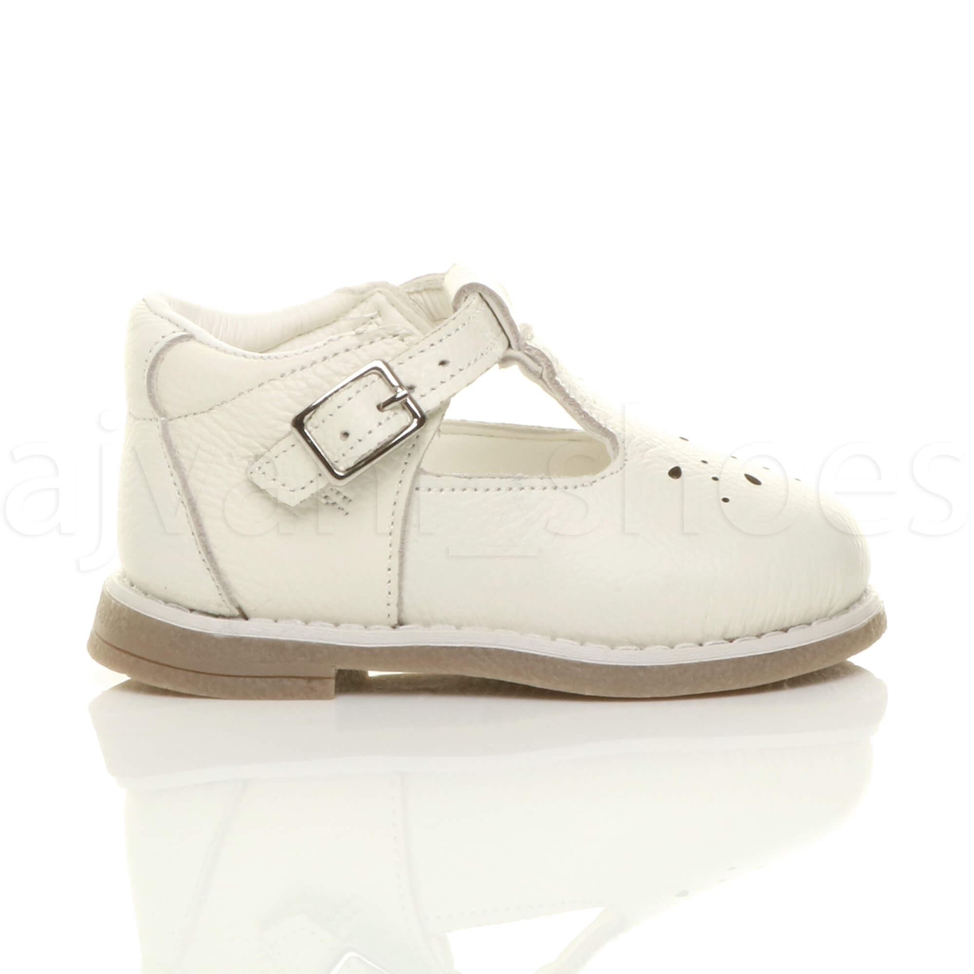 152fb53da628 GIRLS CHILDRENS INFANT TODDLER LOW HEEL LEATHER T-BAR FLEXIBLE PARTY ...