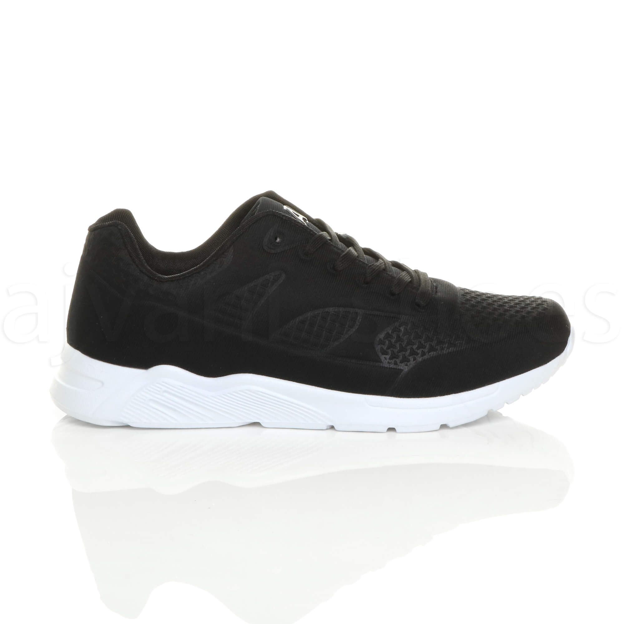 MENS-LACE-UP-FLEXIBLE-SOLE-RUNNING-SPORT-GYM-FITNESS-TRAINERS-SNEAKERS-SIZE miniatuur 3