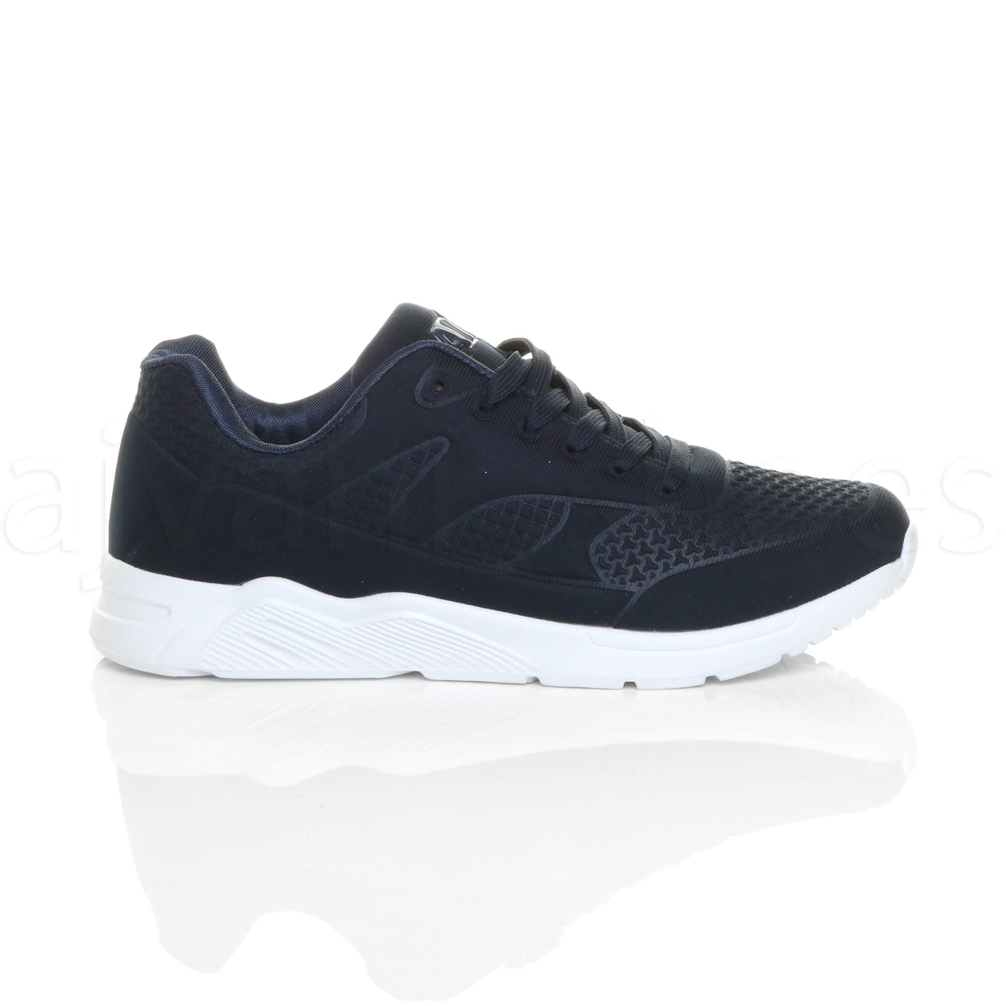 MENS-LACE-UP-FLEXIBLE-SOLE-RUNNING-SPORT-GYM-FITNESS-TRAINERS-SNEAKERS-SIZE miniatuur 11