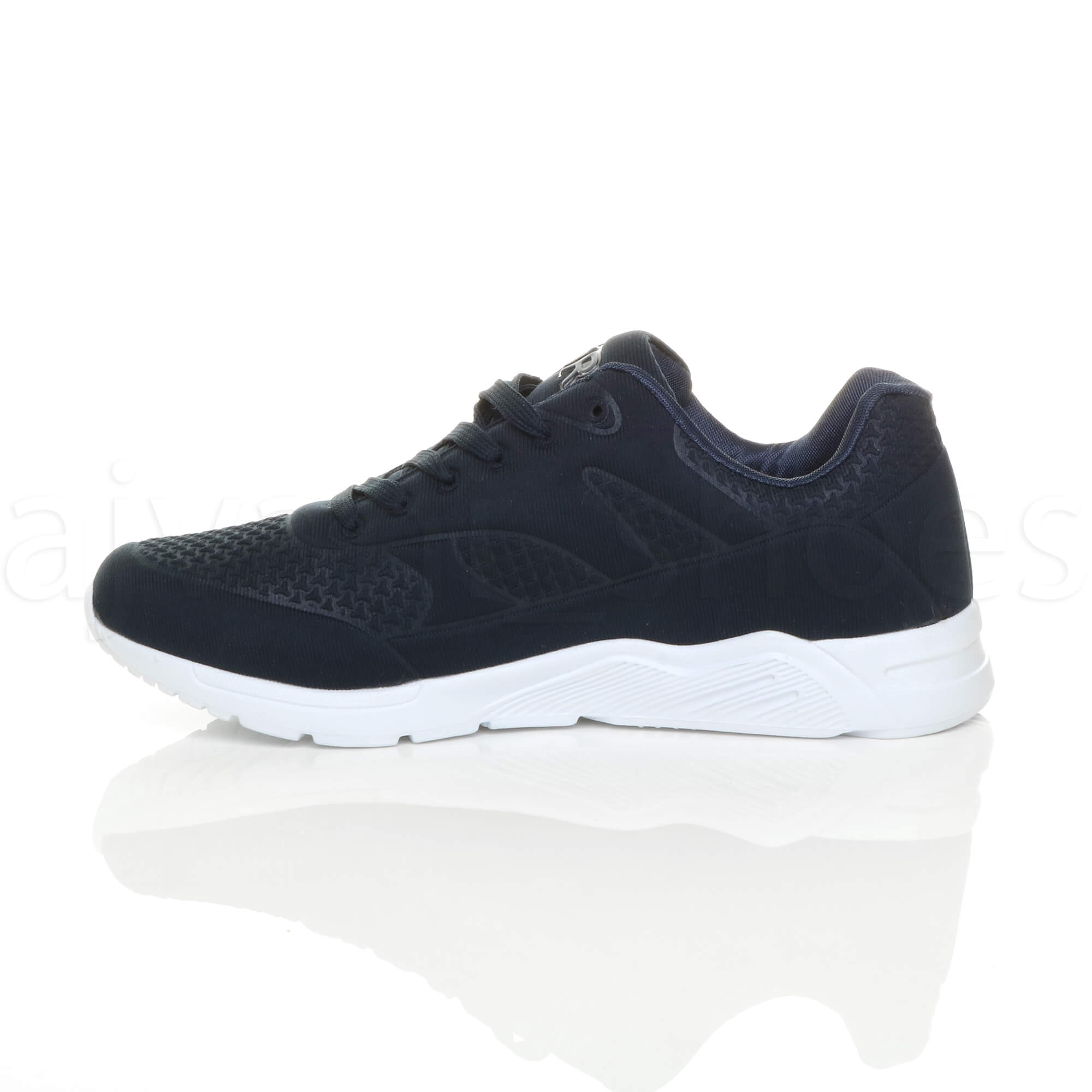 MENS-LACE-UP-FLEXIBLE-SOLE-RUNNING-SPORT-GYM-FITNESS-TRAINERS-SNEAKERS-SIZE miniatuur 12