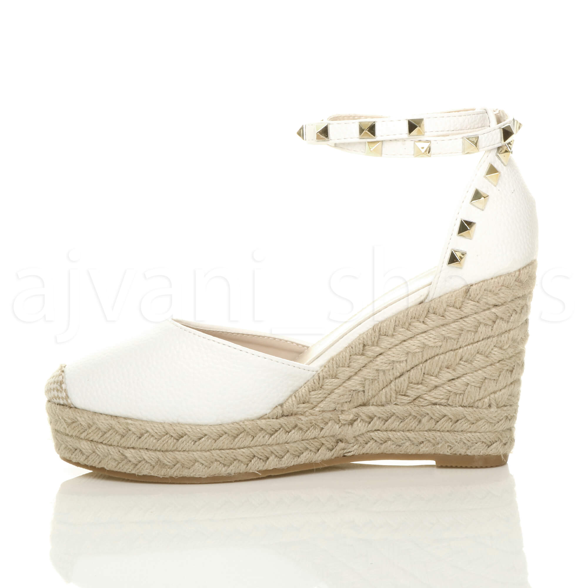 WOMENS-LADIES-HIGH-WEDGE-HEEL-STUDDED-ANKLE-STRAP-ESPADRILLES-SHOES-SANDALS-SIZE