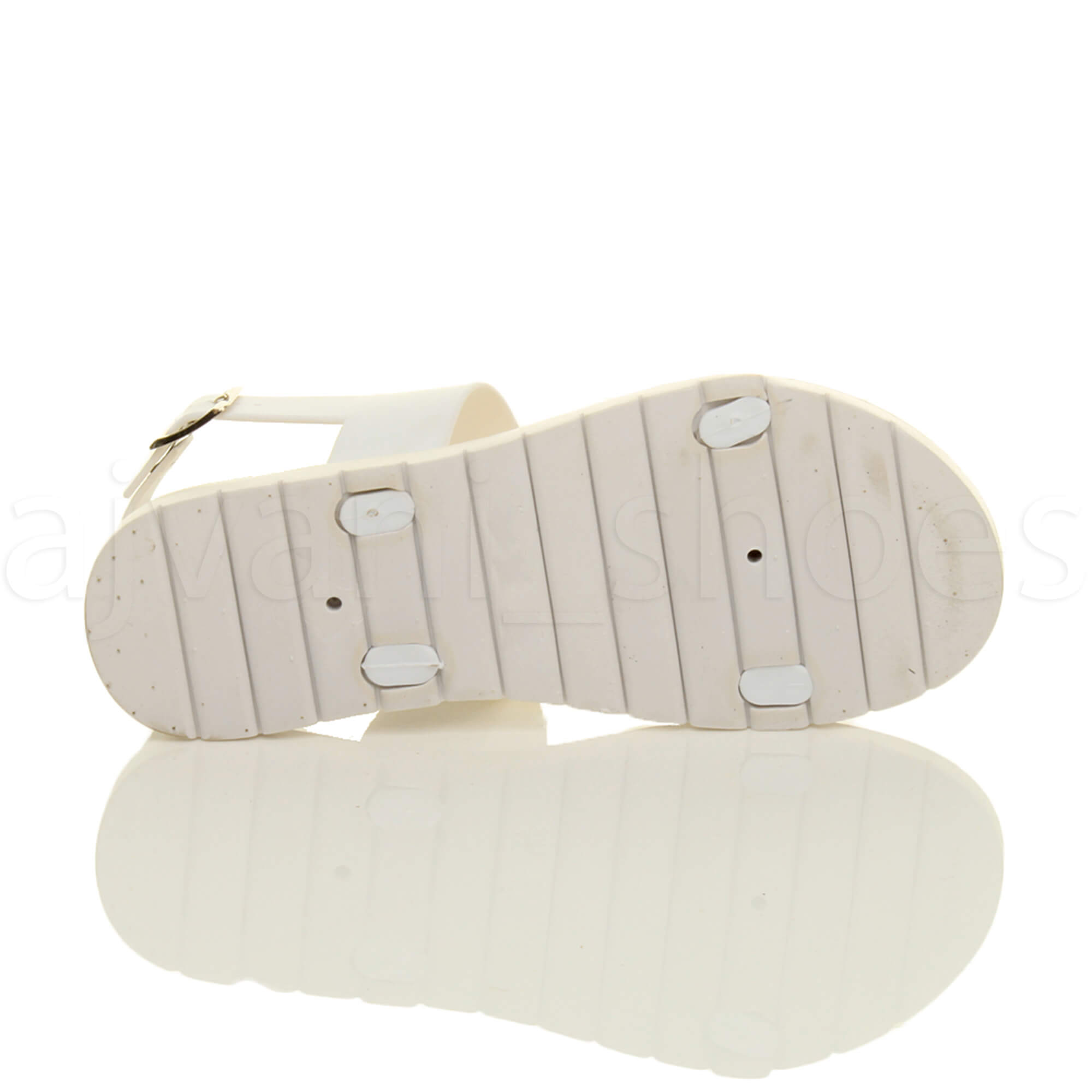 WOMENS-LADIES-FLAT-STRAPPY-BUCKLE-SLINGBACK-CLEATED-RUBBER-SUMMER-SANDALS-SIZE thumbnail 15