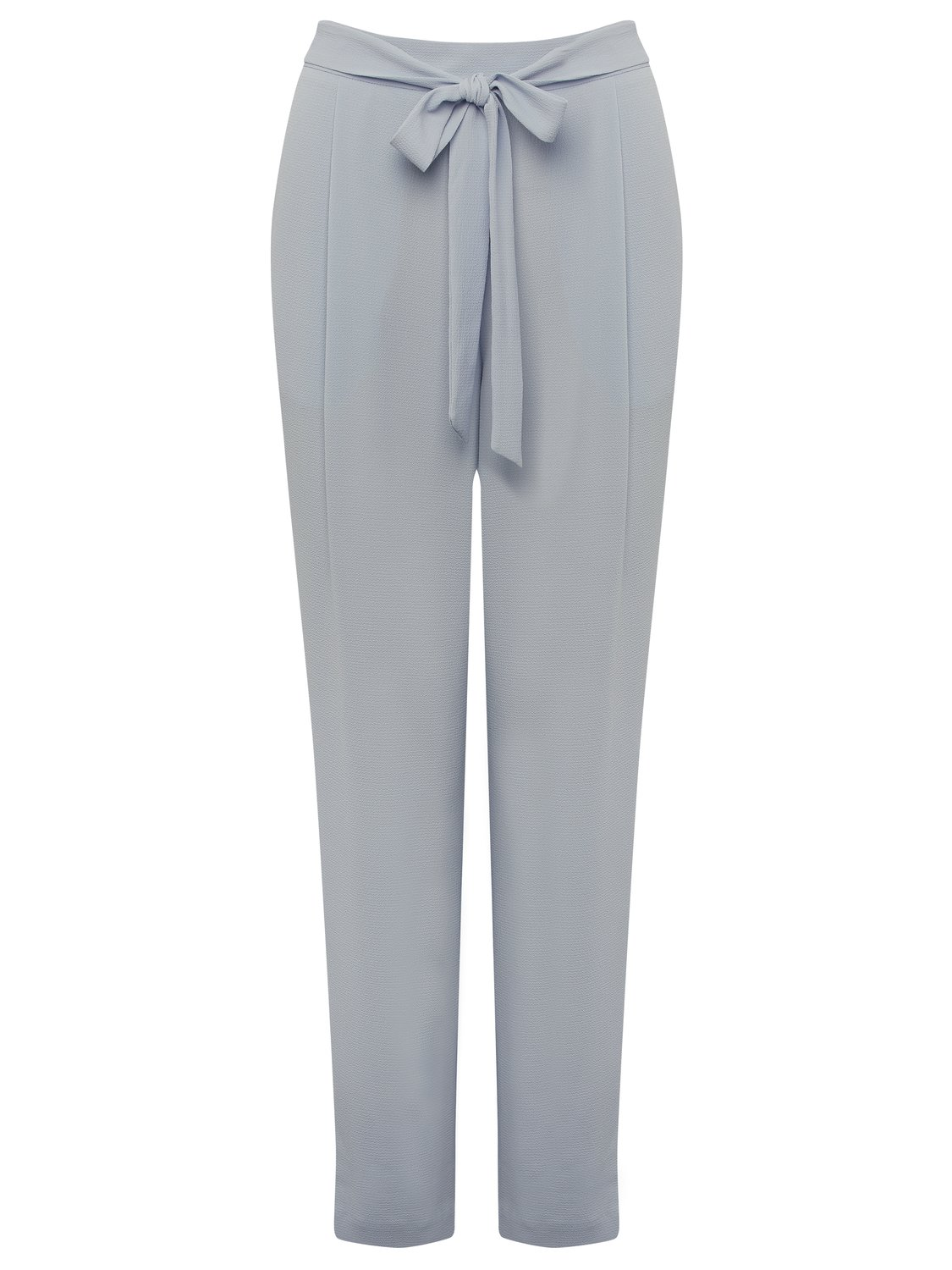 women's ladies crepe tie waist trousers relaxed tapered leg high waist pockets