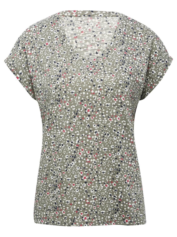 Women's Ditsy Floral Print V-Neck T-Shirt