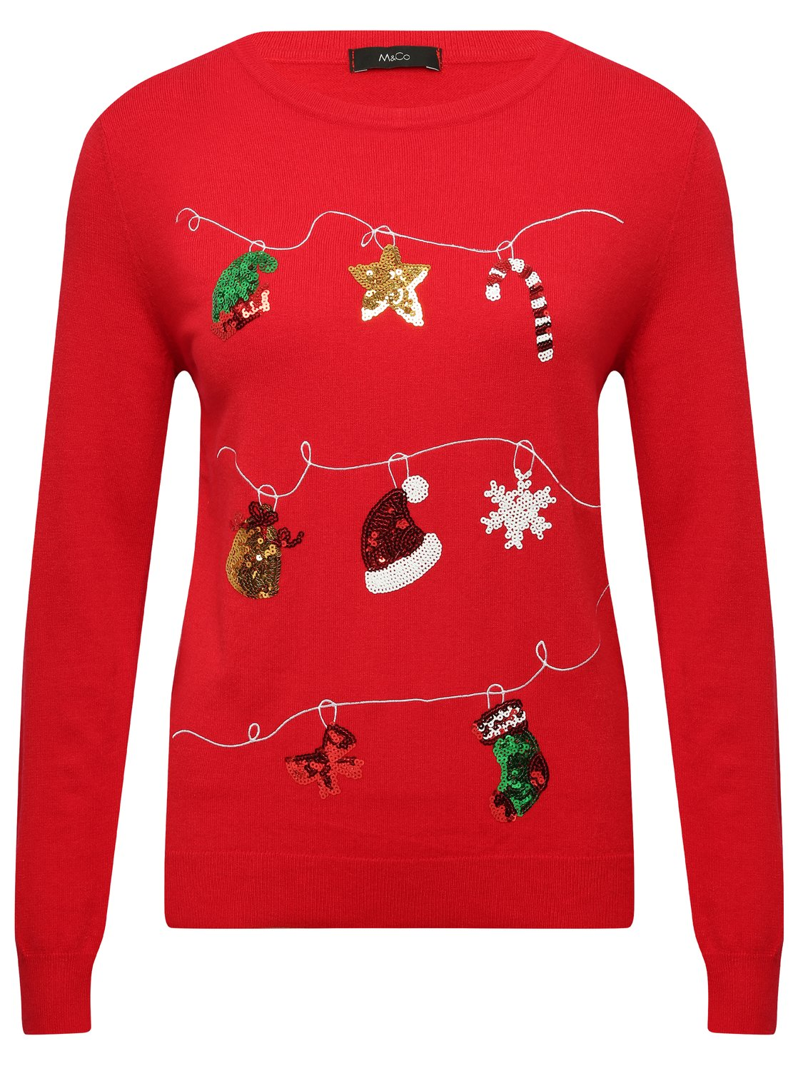 Children's Clothing Festive christmas decoration jumper  - Red
