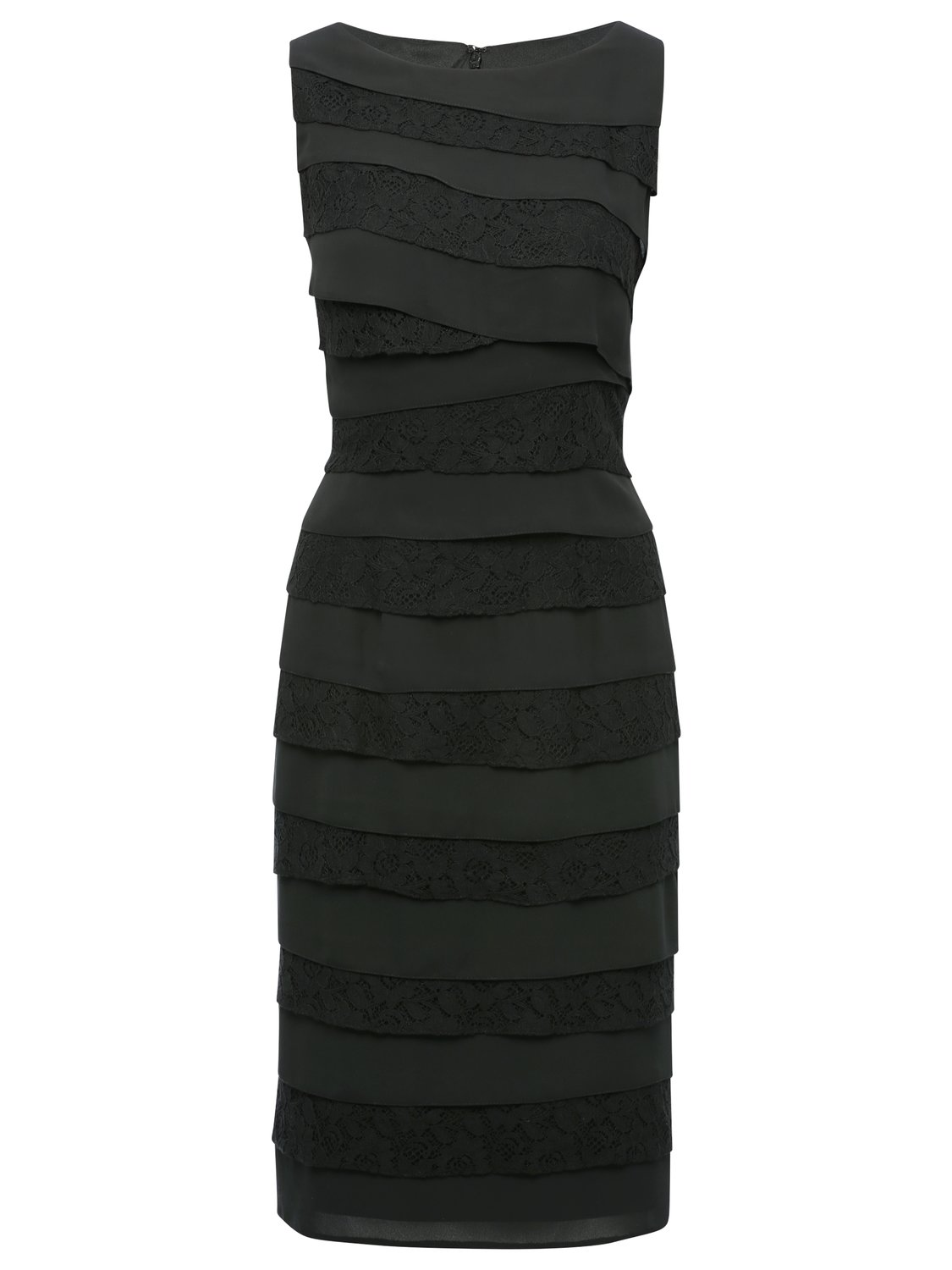 Womens Ladies Boutique classic sleeveless high neck layered Lace shutter pencil shift dress