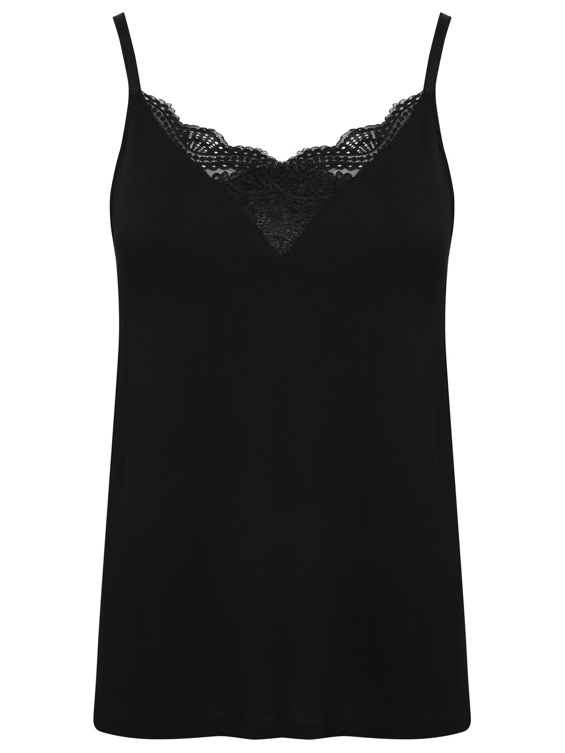 ladies plain black sleeveless lace front underbust support vest  - black
