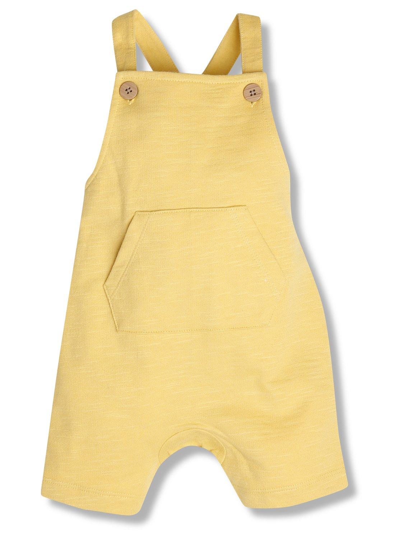 Yellow Dungarees (Newborn-18mths)  - Mustard