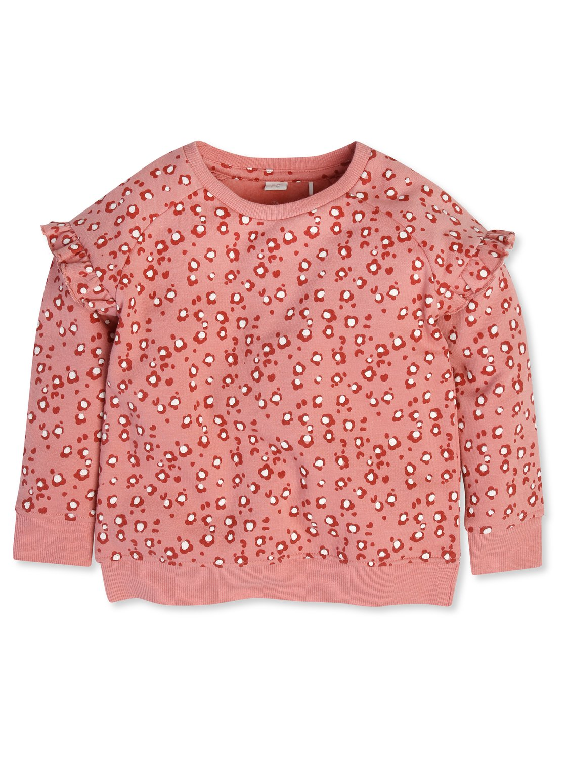 Frill Sleeve Animal Print Sweatshirt (9mths-5yrs) Pi - Pink