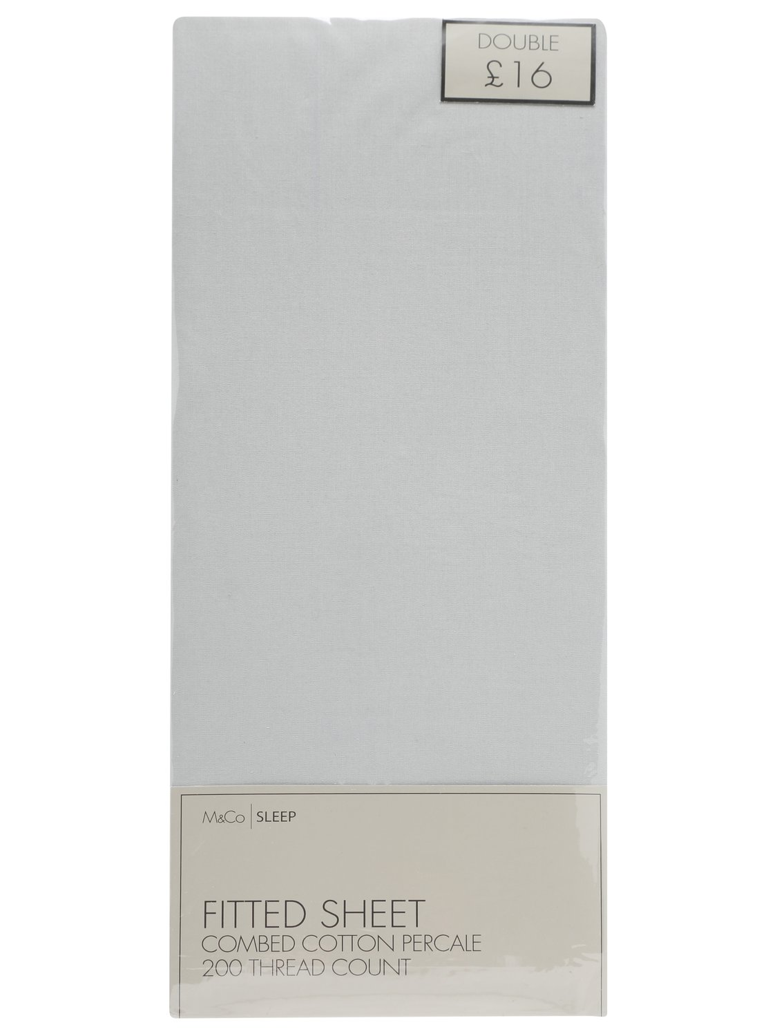 Image of 100% Cotton fitted sheet 200 thread count single double king and super king sizes - Silver
