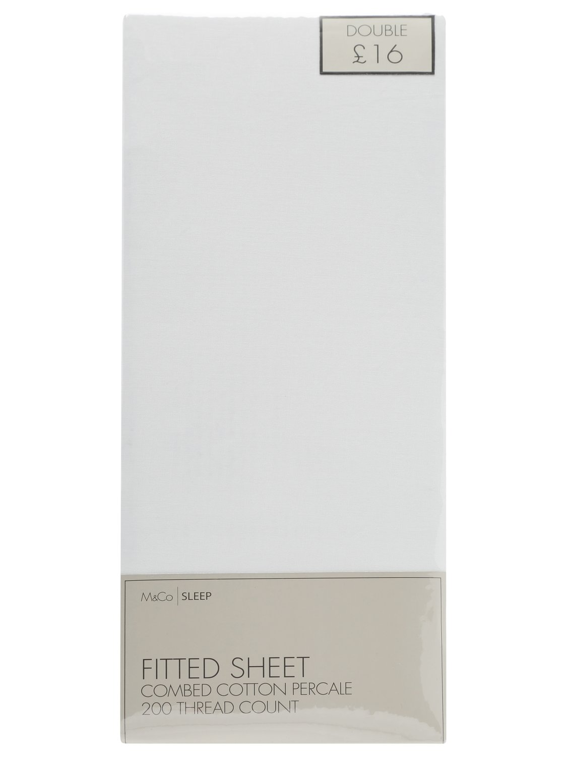 Image of 100% Cotton fitted sheet 200 thread count single double king and super king sizes - White