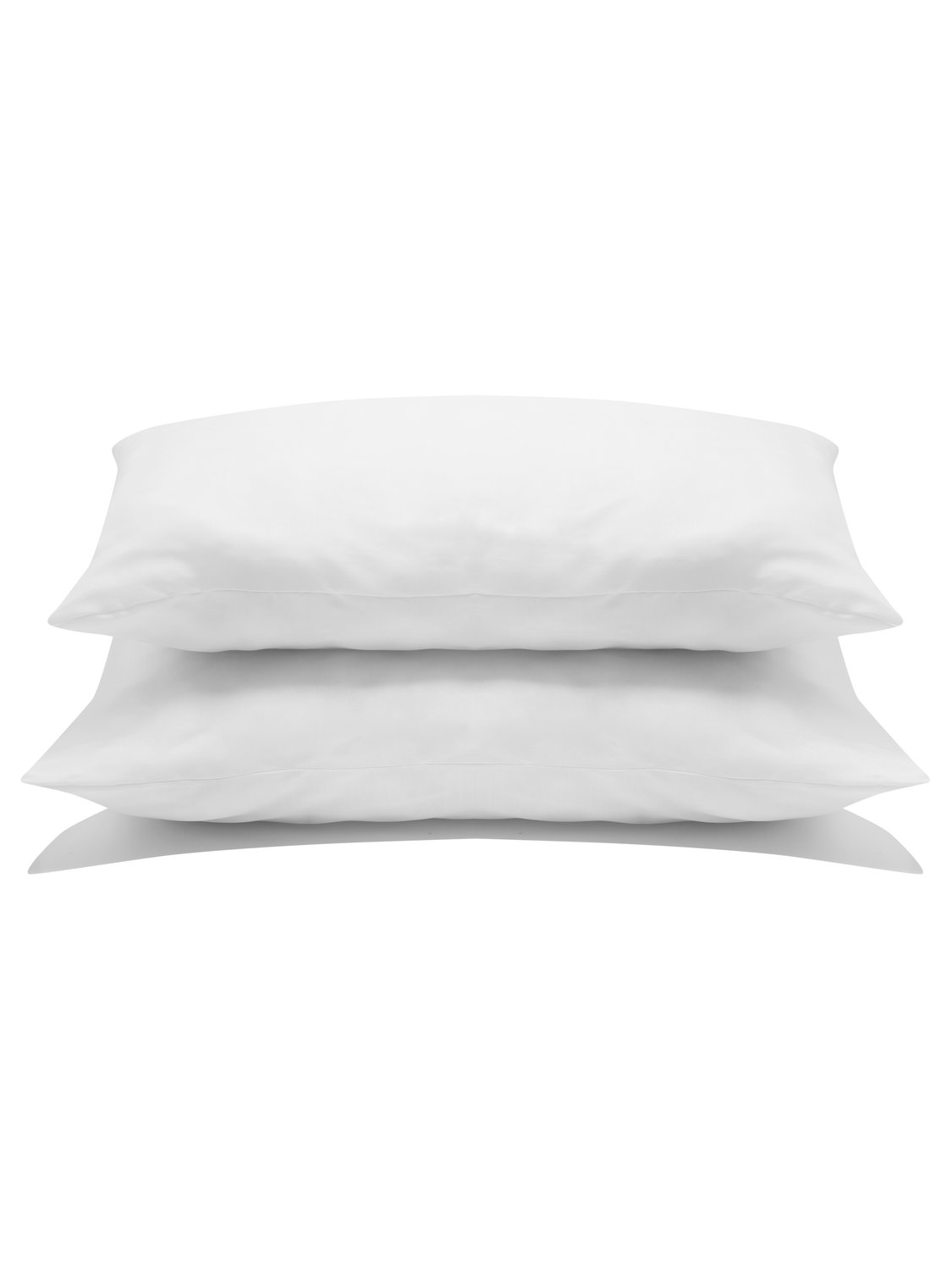 bounceback anti allergy pillow pair - 2 pack - soft support for front sleepers  - white