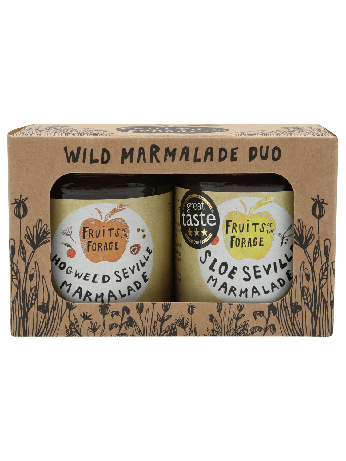fruits of the forage wild marmalade duo gift set box award winning marmalade  - cream