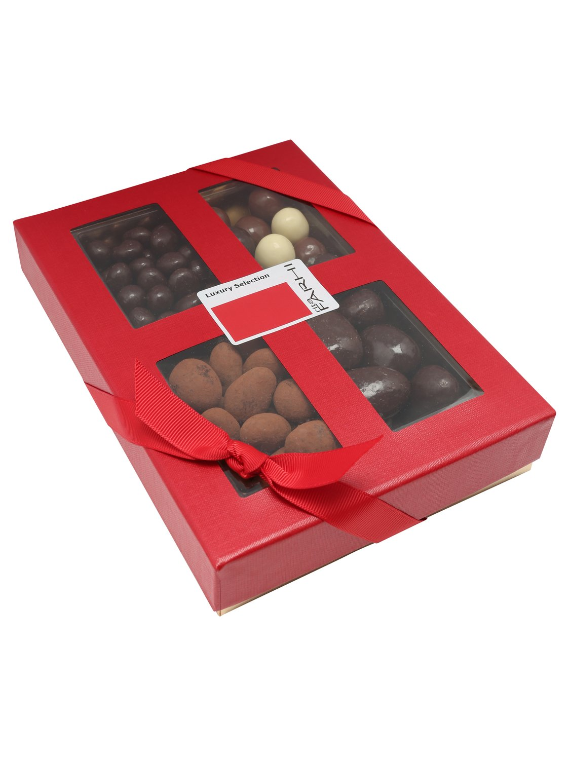 rita farhi nut selection box  - red