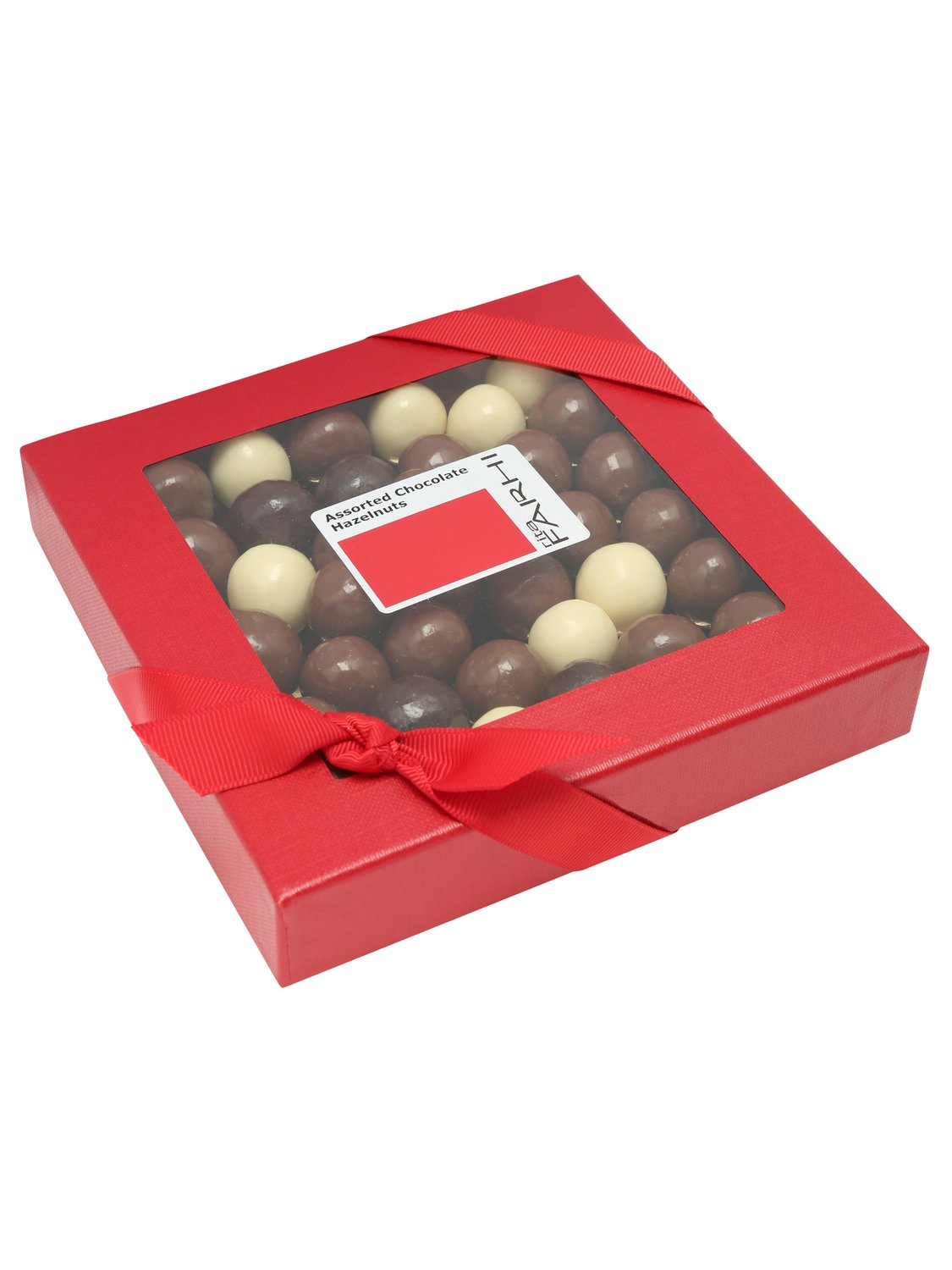 rita farhi chocolate hazelnut box  - red