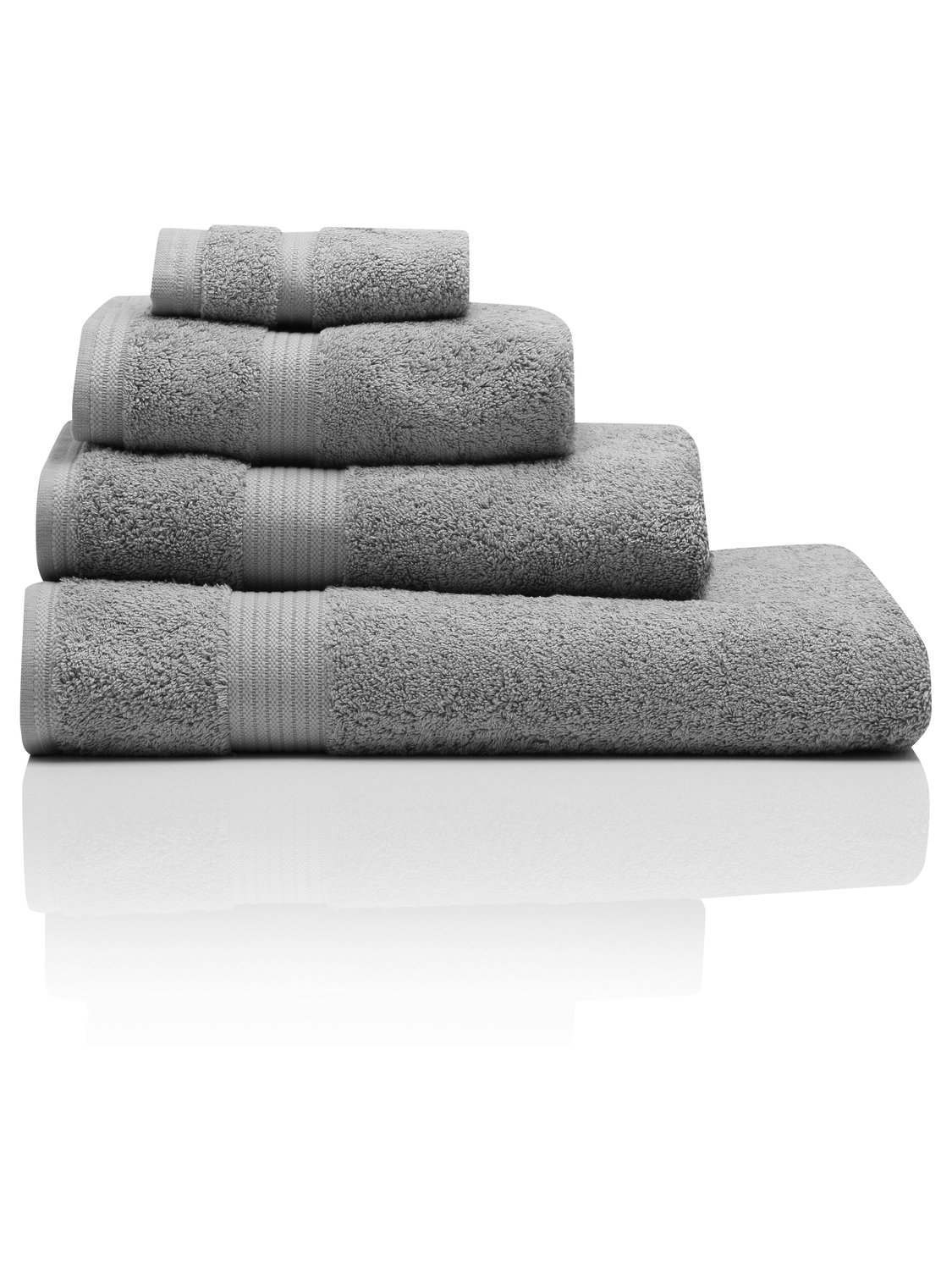 Image of 100% Combed Cotton 580Gsm Luxury Soft And Absorbent Bath Sheet - Dark Grey