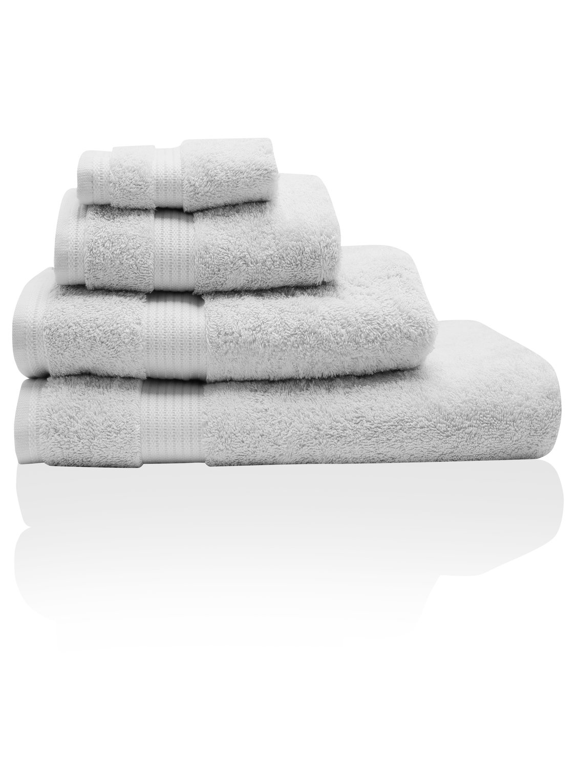 Image of 100% Combed Cotton 580Gsm Luxury Soft And Absorbent Bath Sheet - Silver