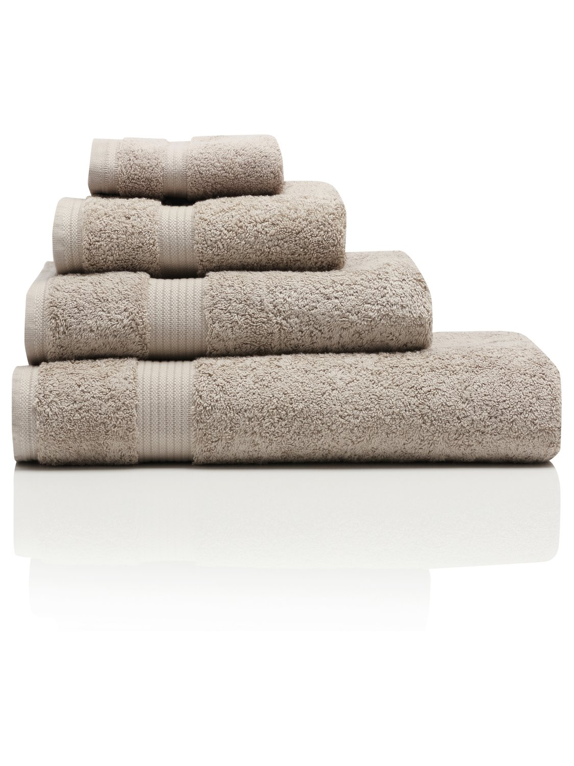 Image of 100% Combed Cotton 580Gsm Luxury Soft And Absorbent Bath Sheet - Beige